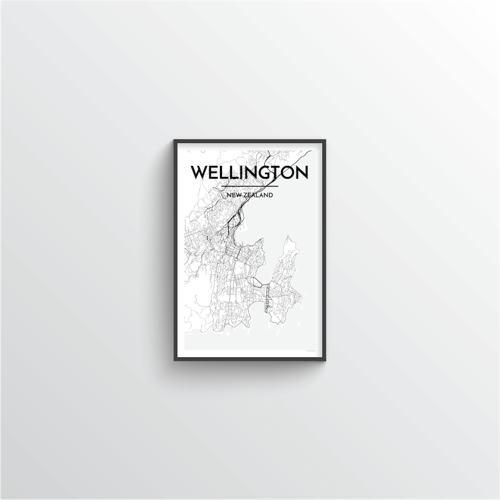 Wellington Map Art Print - Point Two Design
