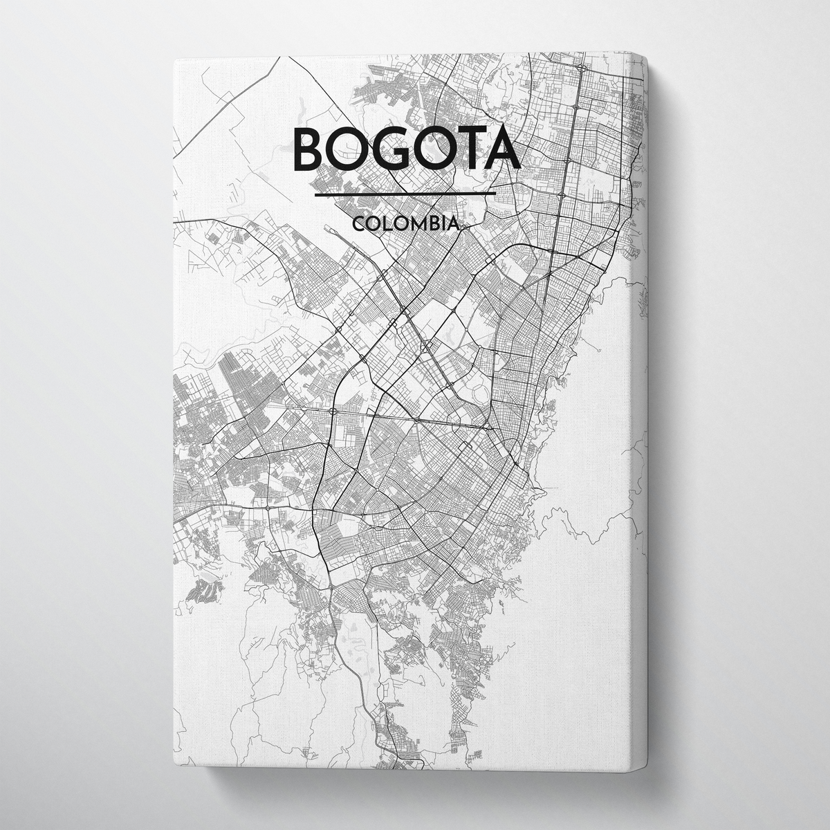 Bogota Map Canvas Wrap - Point Two Design