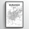Durango Map Art Print - Point Two Design