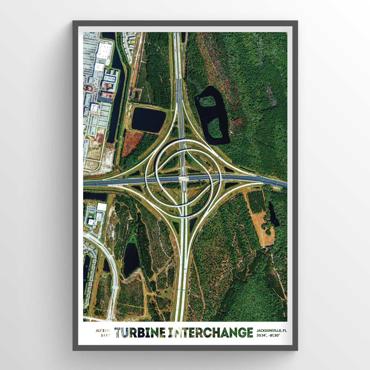 Turbine Interchange - Earth Photography Fine Art Print
