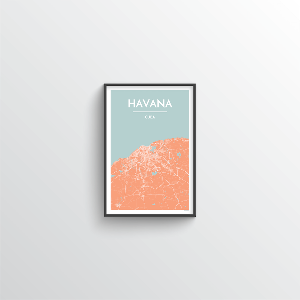 Havana Map Art Print
