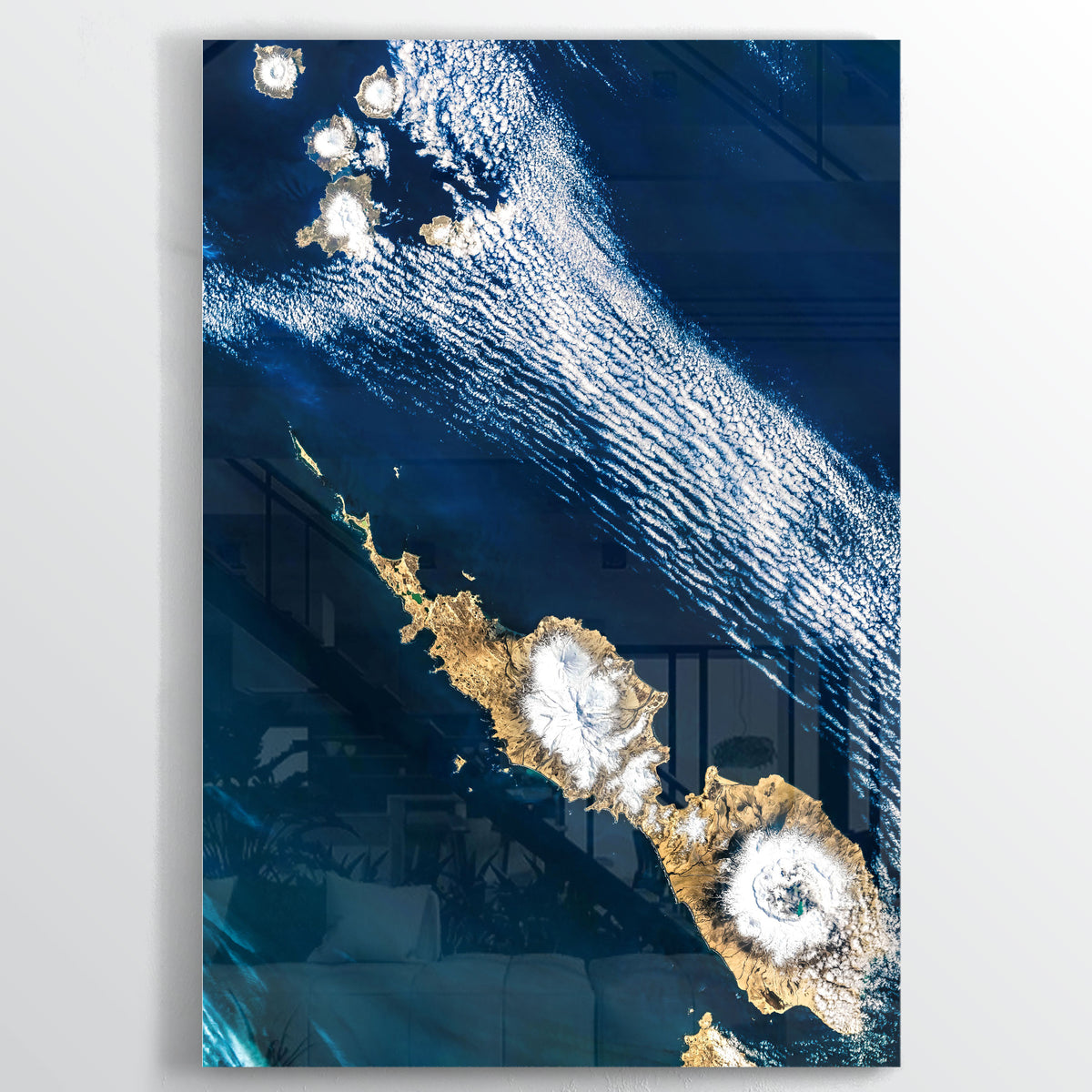 Umnak Island Earth Photography - Floating Acrylic Art