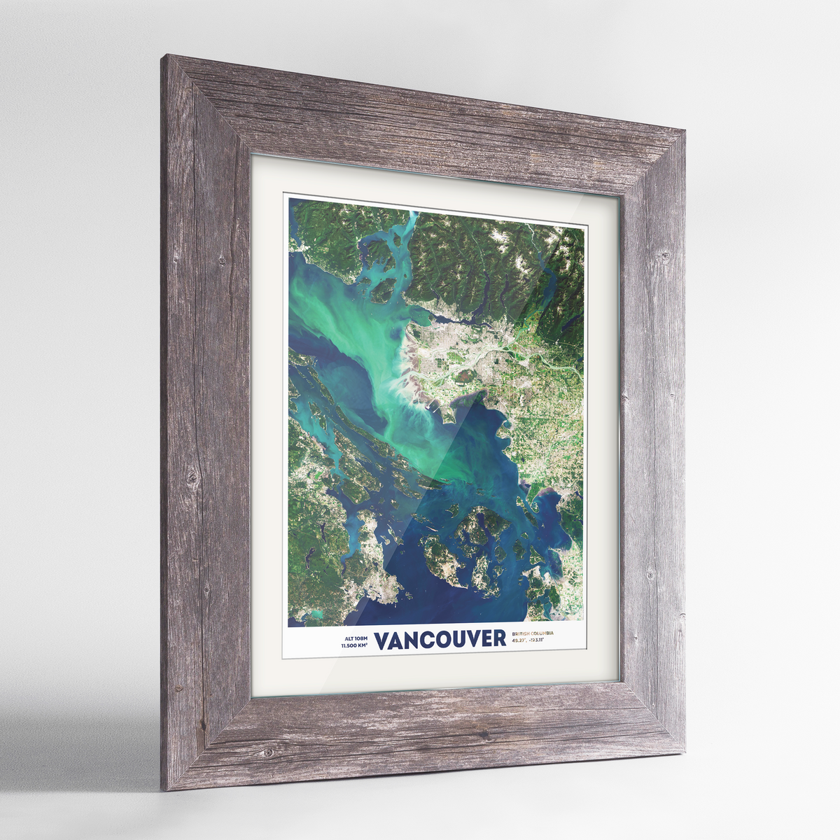 Vancouver Earth Photography Art Print - Framed