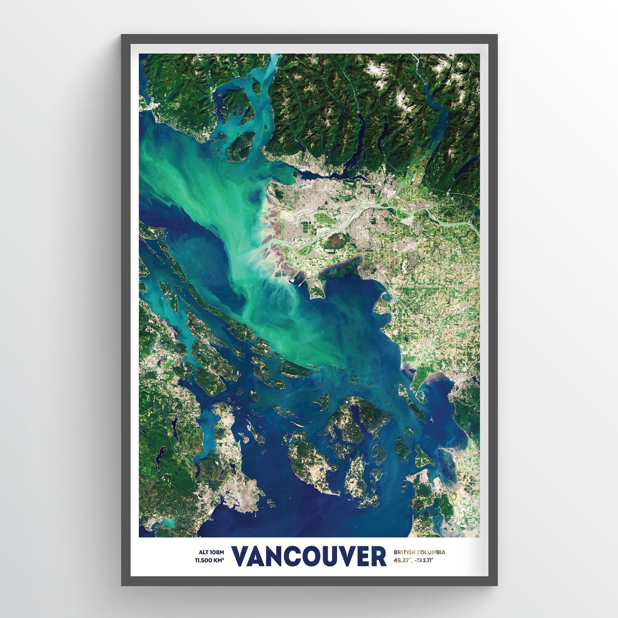 Vancouver from Space Art Print - Fine Art