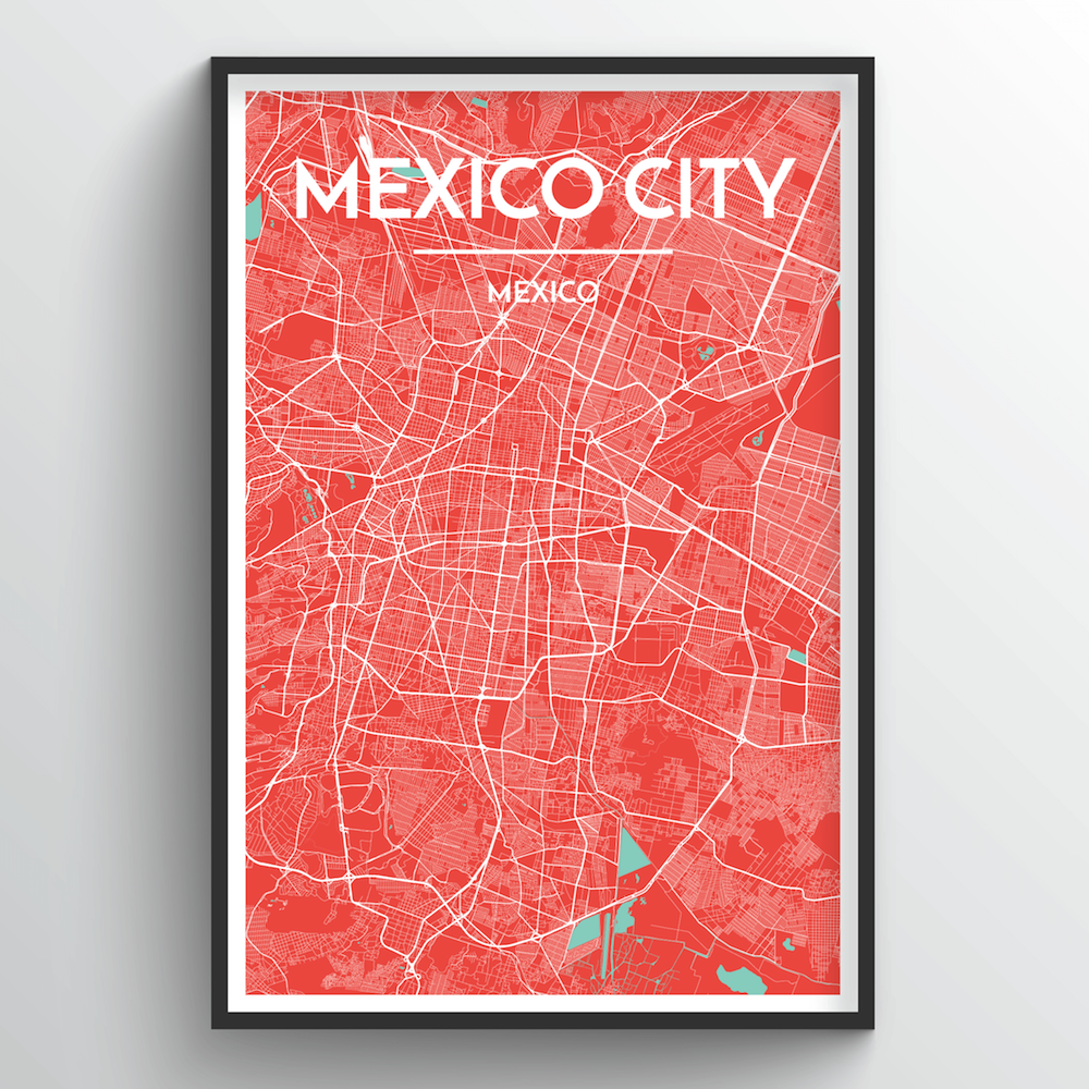 Mexico City Map Art Print - Point Two Design