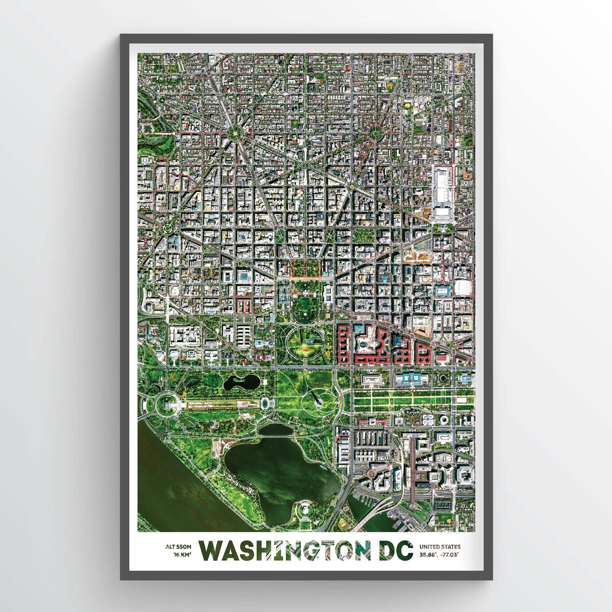 Washington DC Earth Photography Print