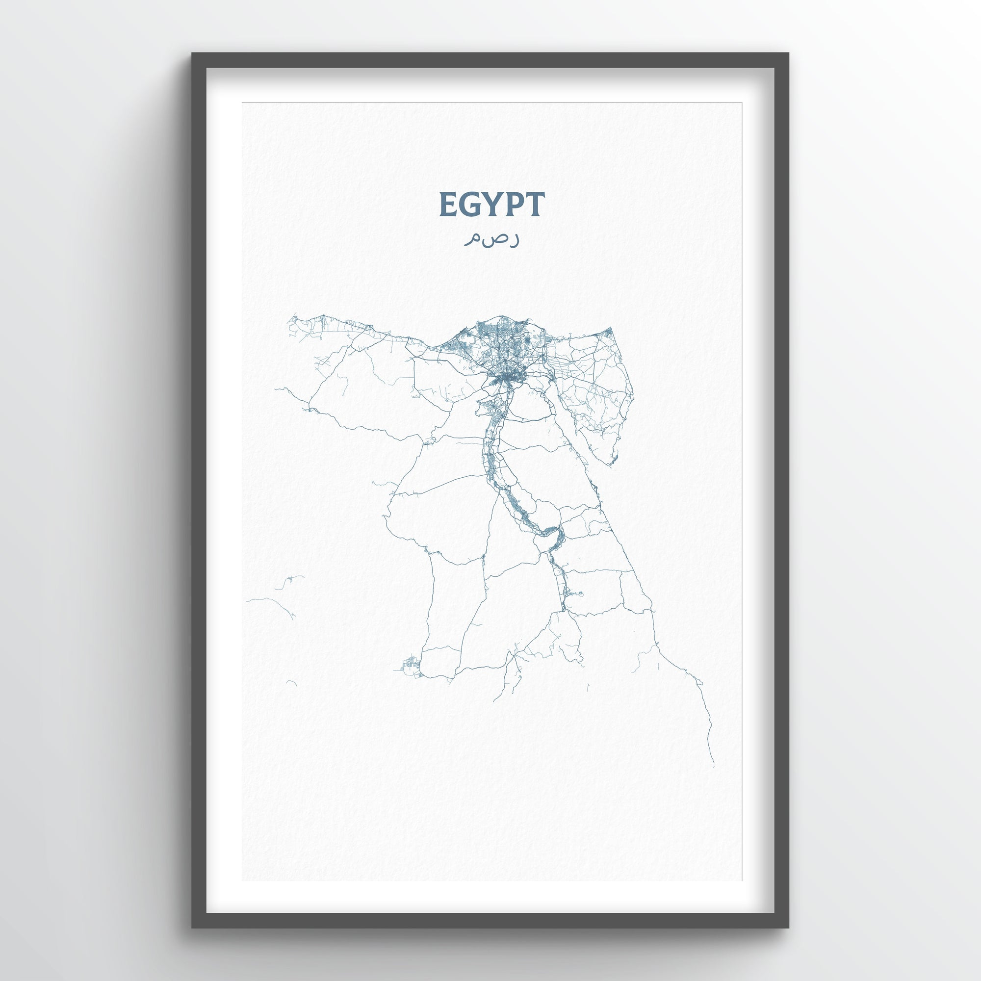 Egypt - All Roads Art Print - Point Two Design