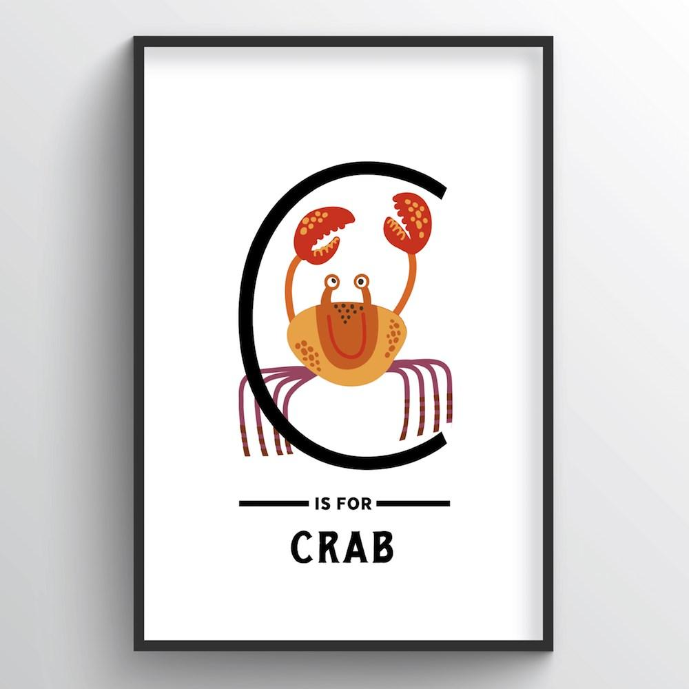 Animal Alphabet - Letter C - Point Two Design
