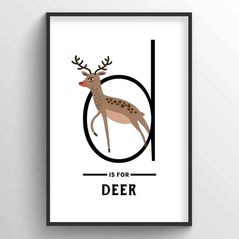 Animal Alphabet - Letter D - Point Two Design