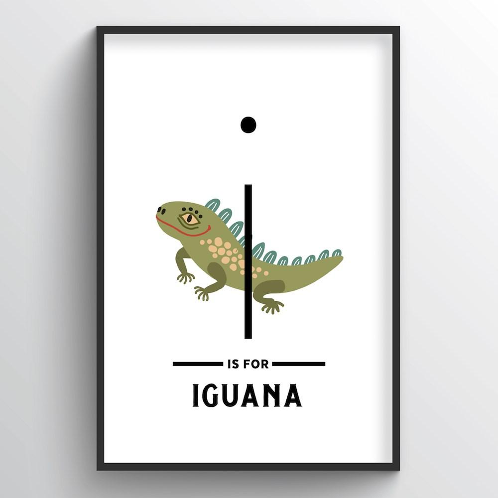 Animal Alphabet - Letter I - Point Two Design