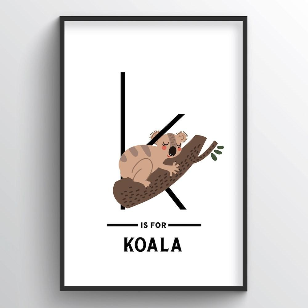 Animal Alphabet - Letter K - Point Two Design