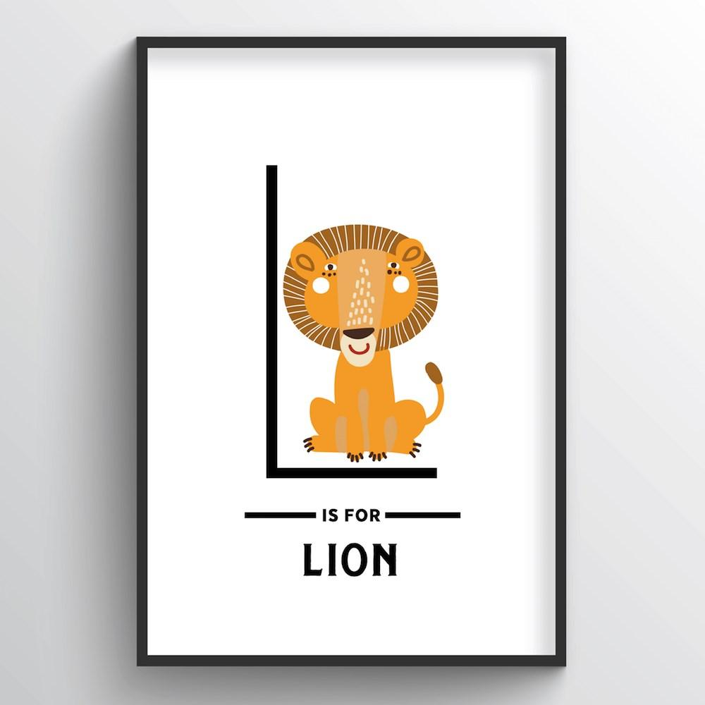 Animal Alphabet - Letter L - Point Two Design
