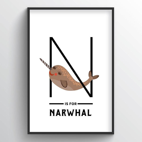 Animal Alphabet - Letter N - Point Two Design