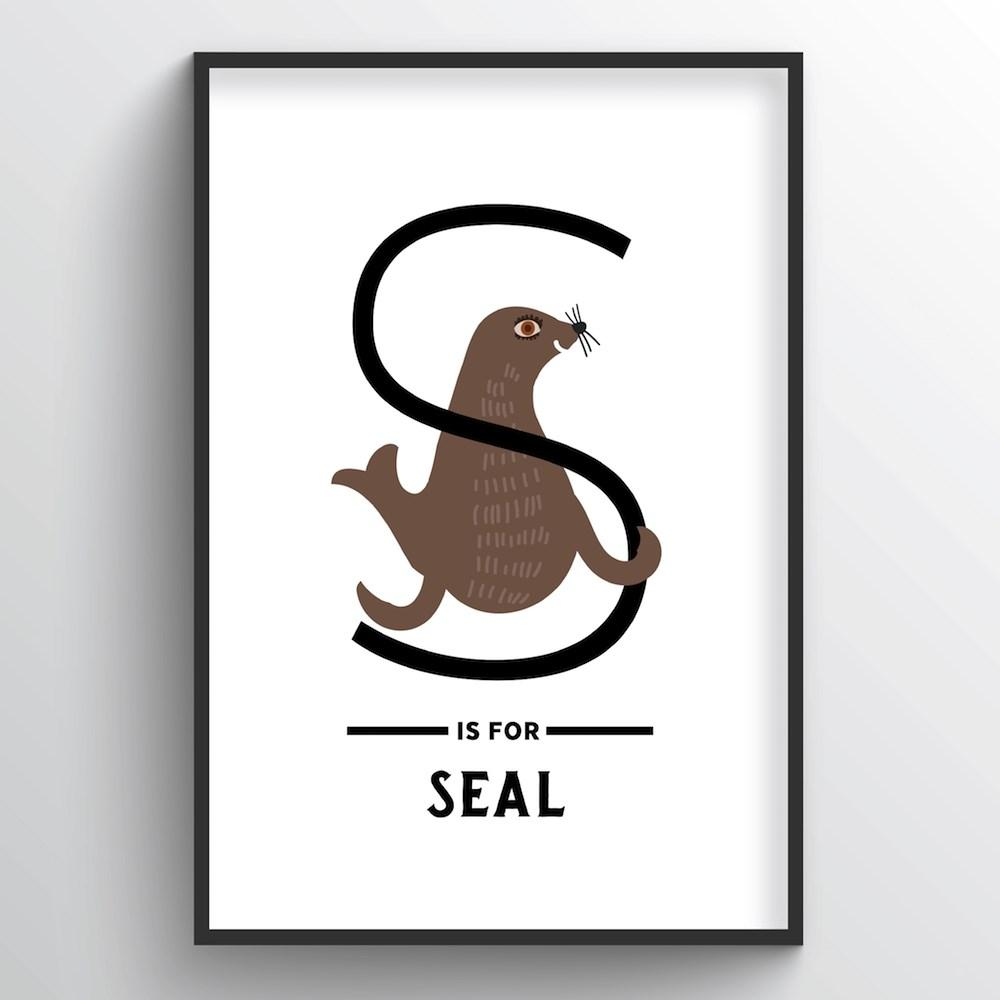 Animal Alphabet - Letter S - Point Two Design
