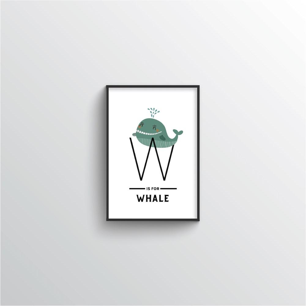 Animal Alphabet - Letter W - Point Two Design