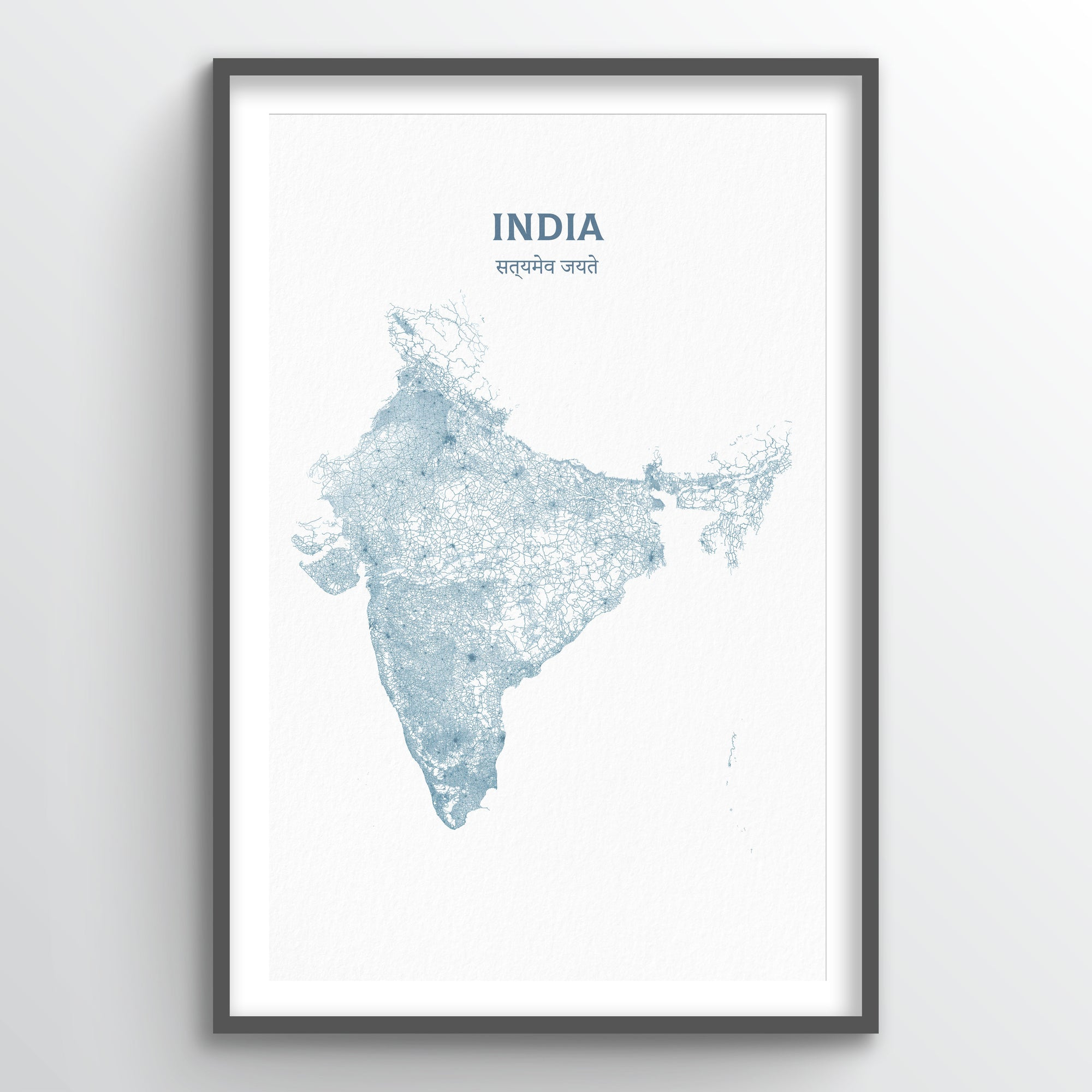 India - All Roads Art Print