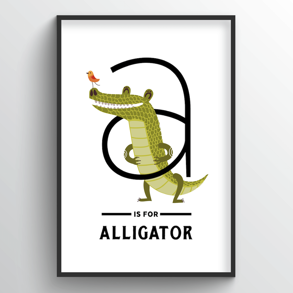 Animal Alphabet - Letter A - Point Two Design