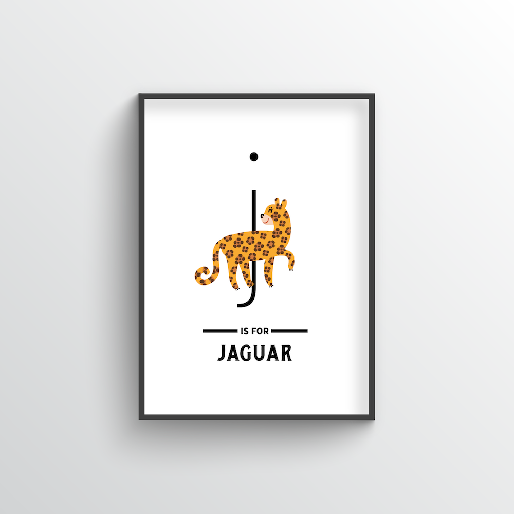 Animal Alphabet - Letter J - Point Two Design
