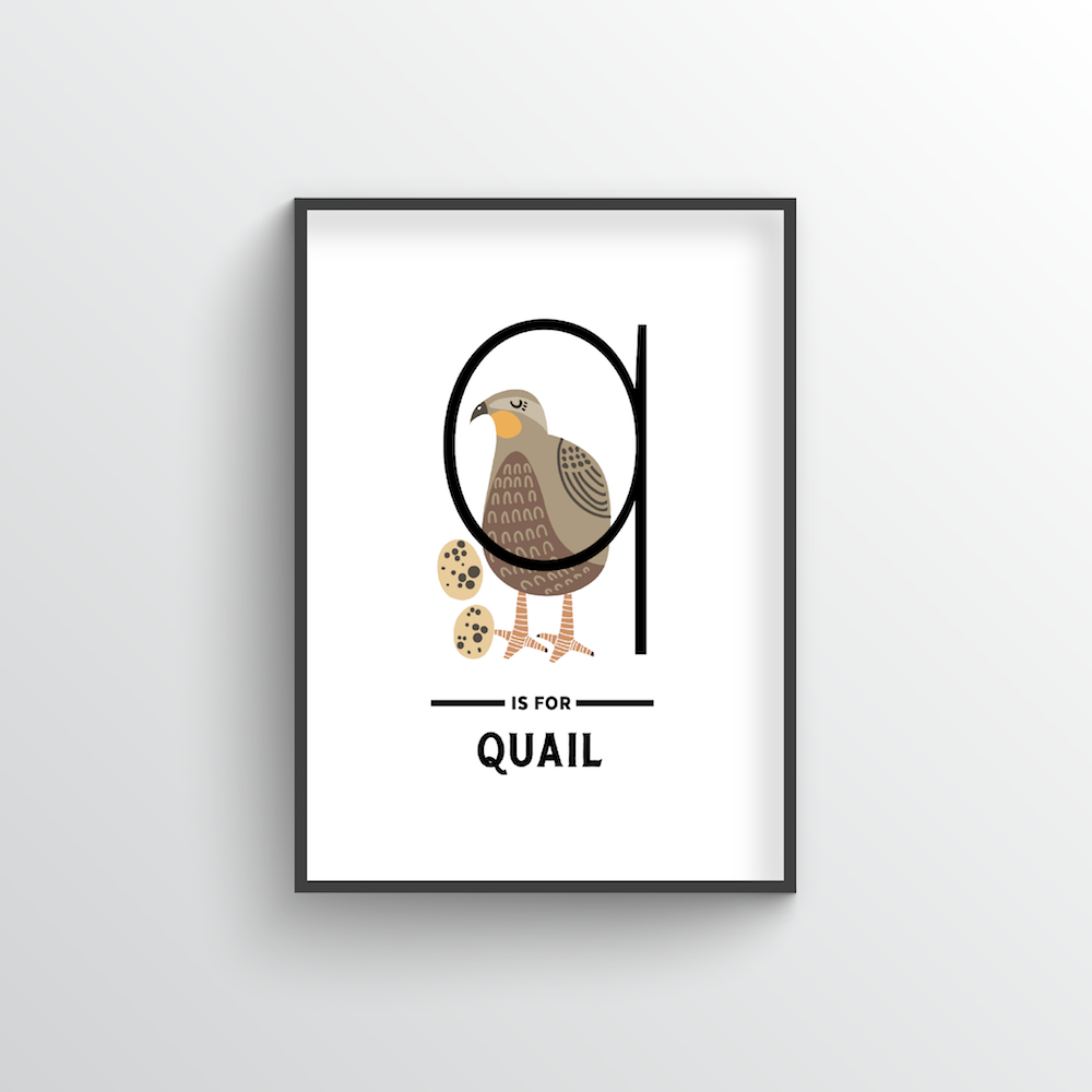 Animal Alphabet - Letter Q - Point Two Design