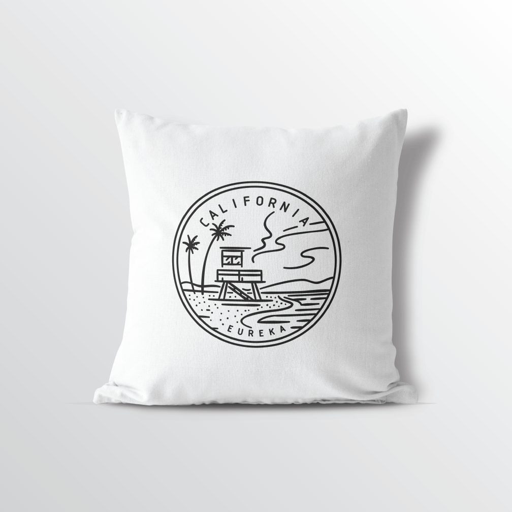 California State Crest Throw Pillow - Point Two Design