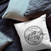 Colorado State Crest Velveteen Throw Pillow - Point Two Design