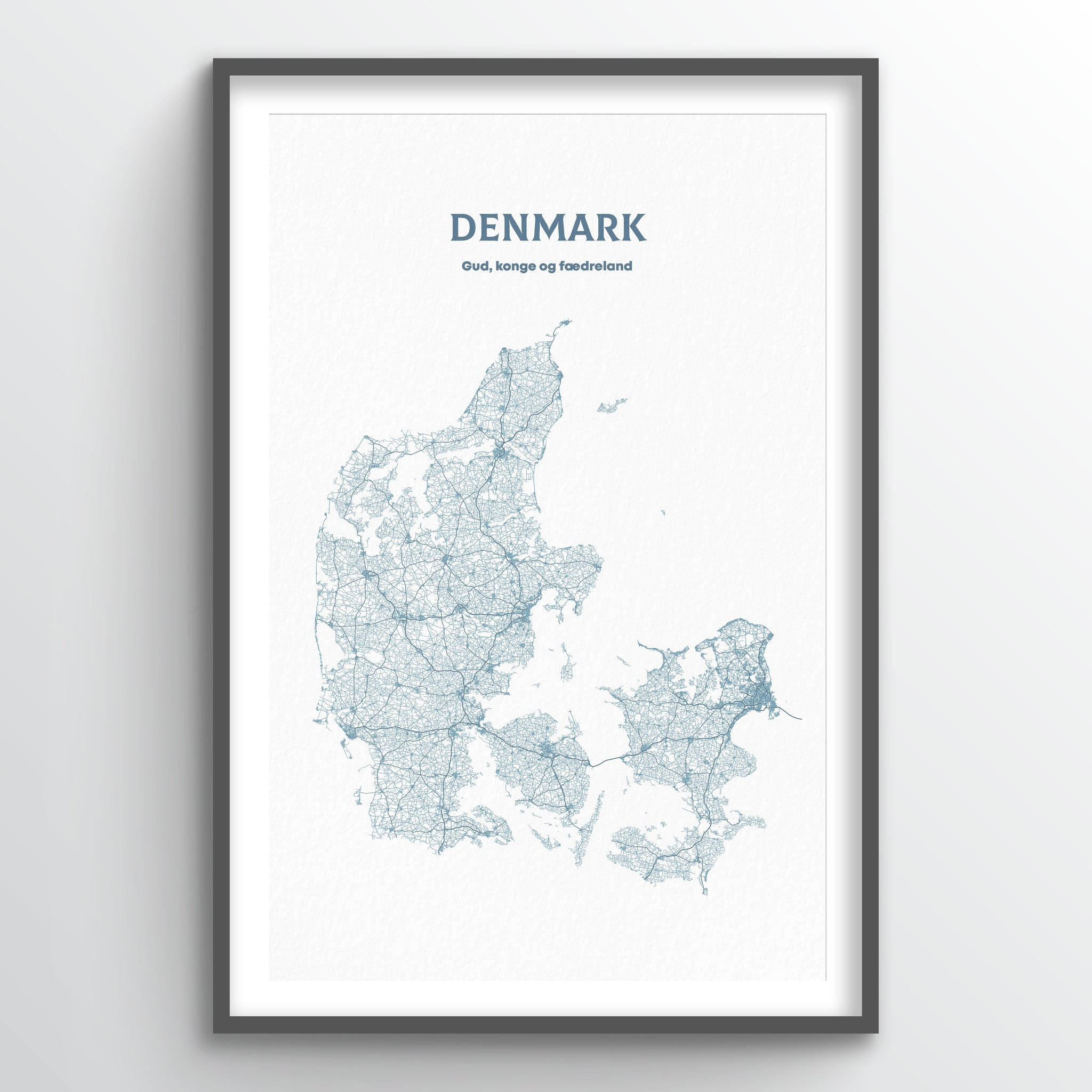 Denmark - All Roads Art Print - Point Two Design