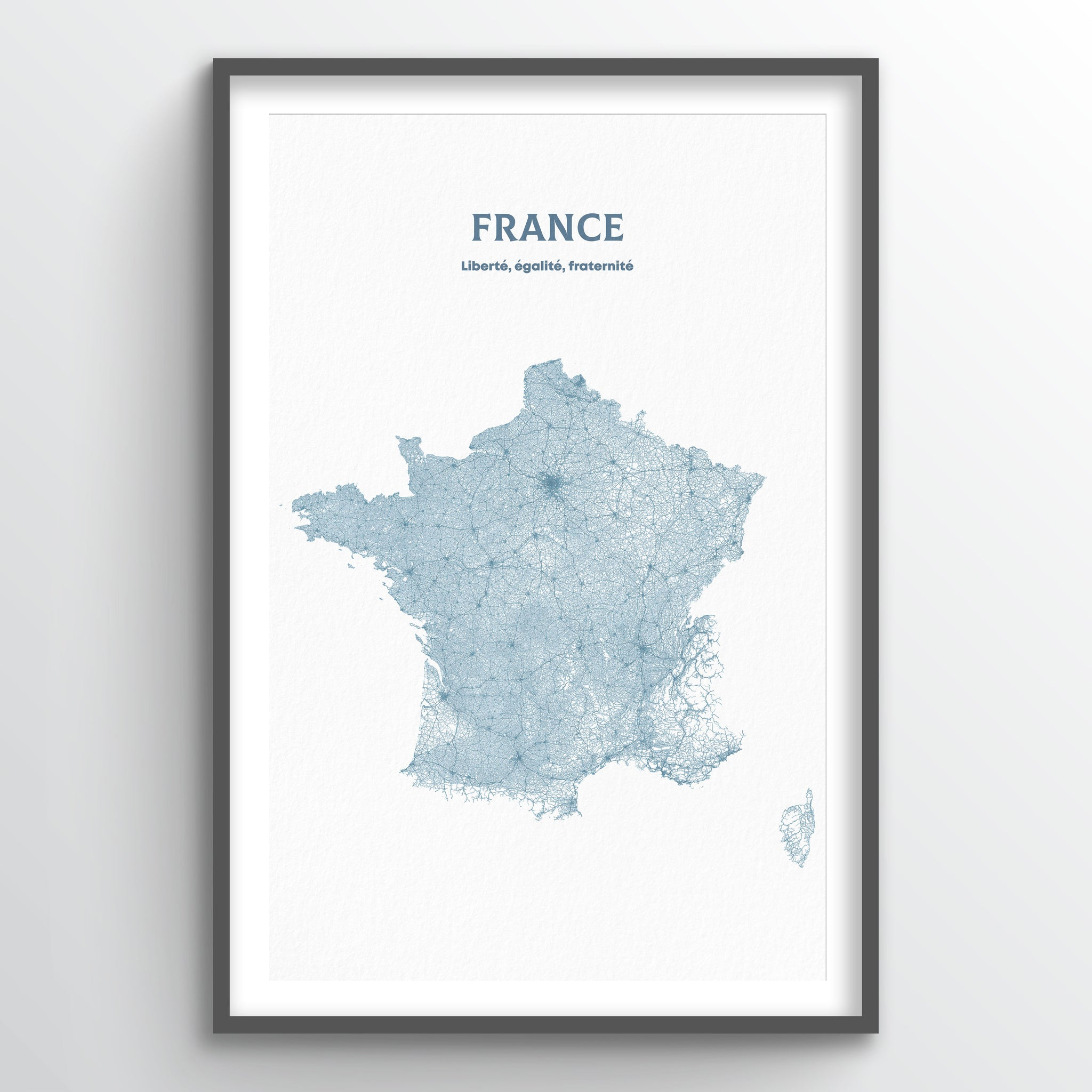 France - All Roads Art Print - Point Two Design