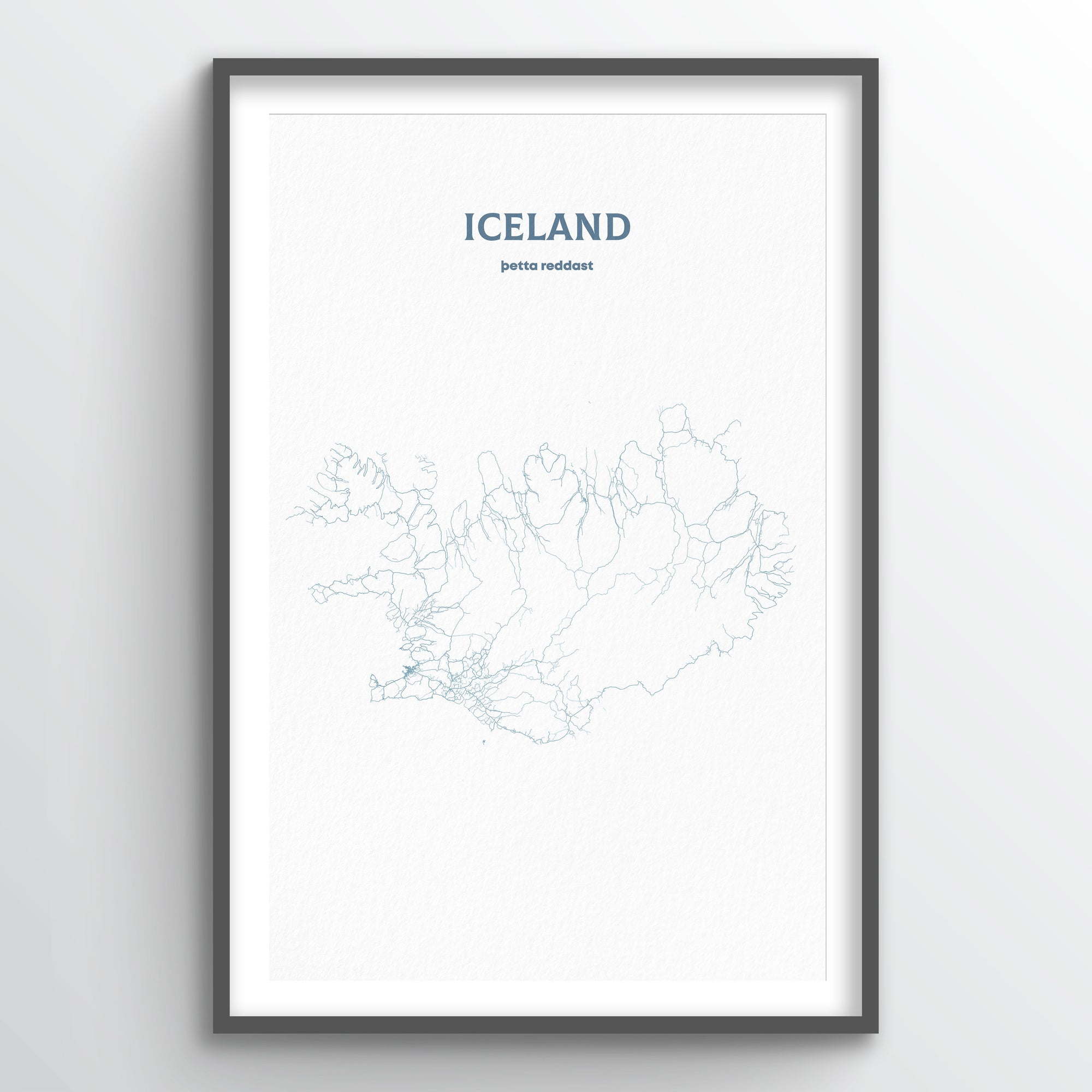 Iceland - All Roads Art Print