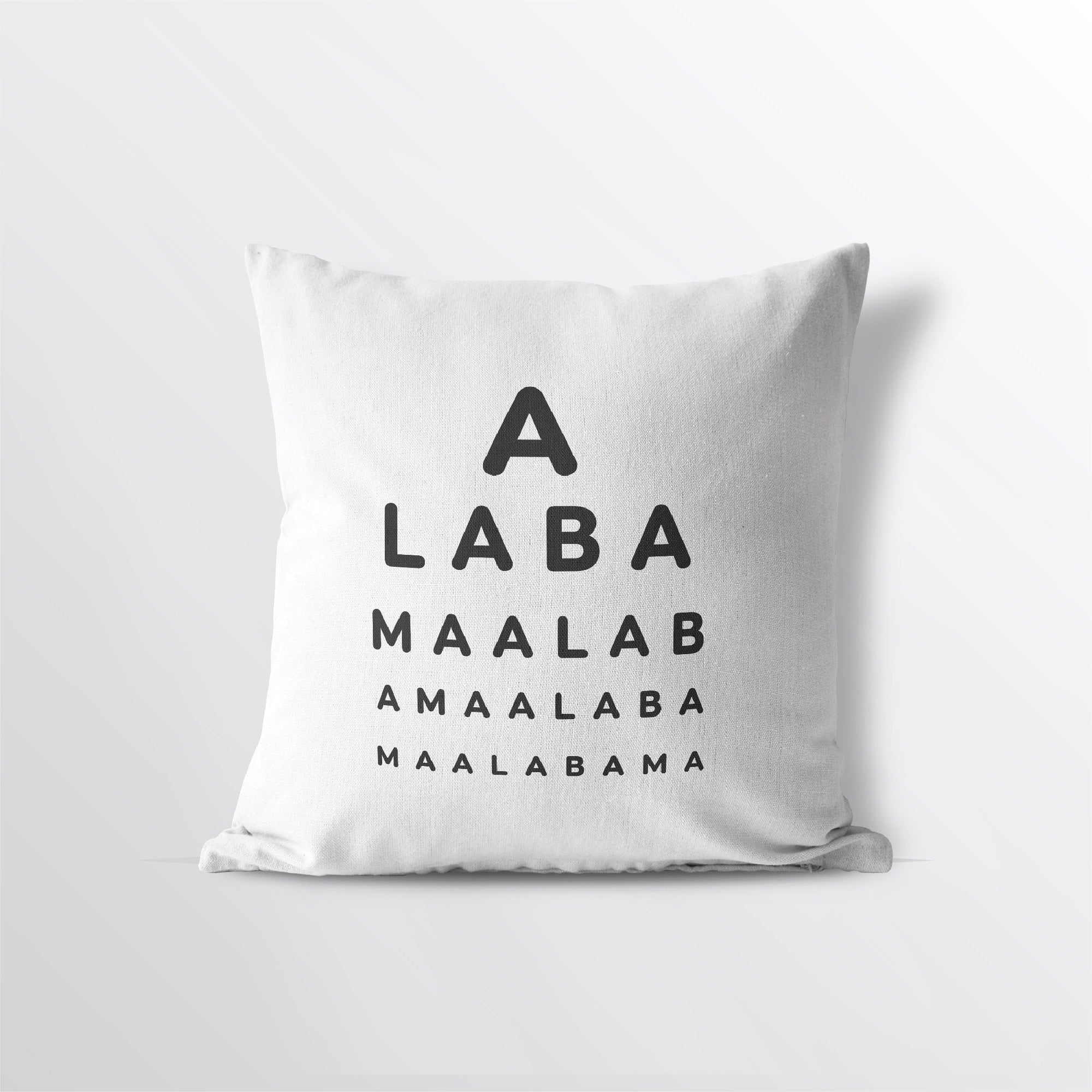 "Alabama ""Eye Exam"" Velveteen Throw Pillow - Point Two Design"