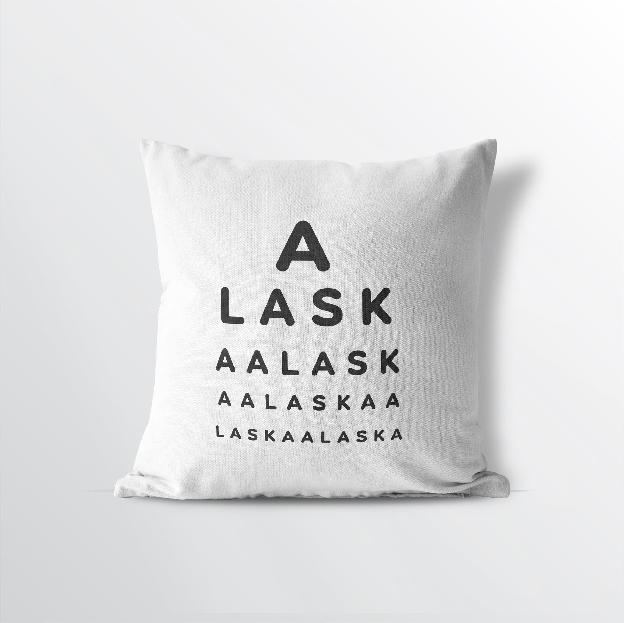 "Alaska ""Eye Exam"" Velveteen Throw Pillow - Point Two Design"