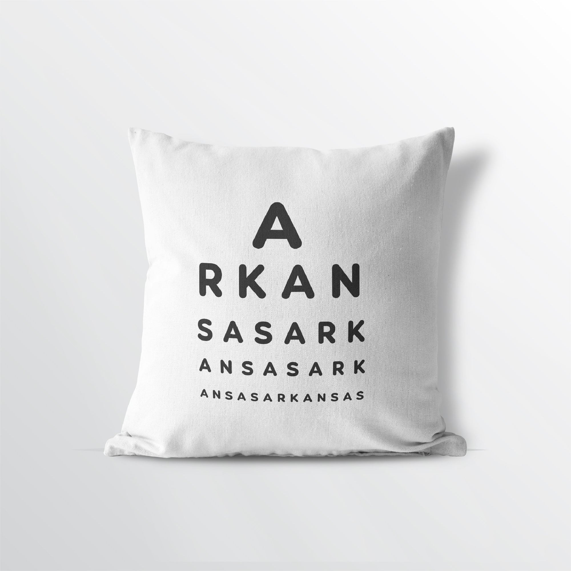 "Arkansas ""Eye Exam"" Velveteen Throw Pillow - Point Two Design"