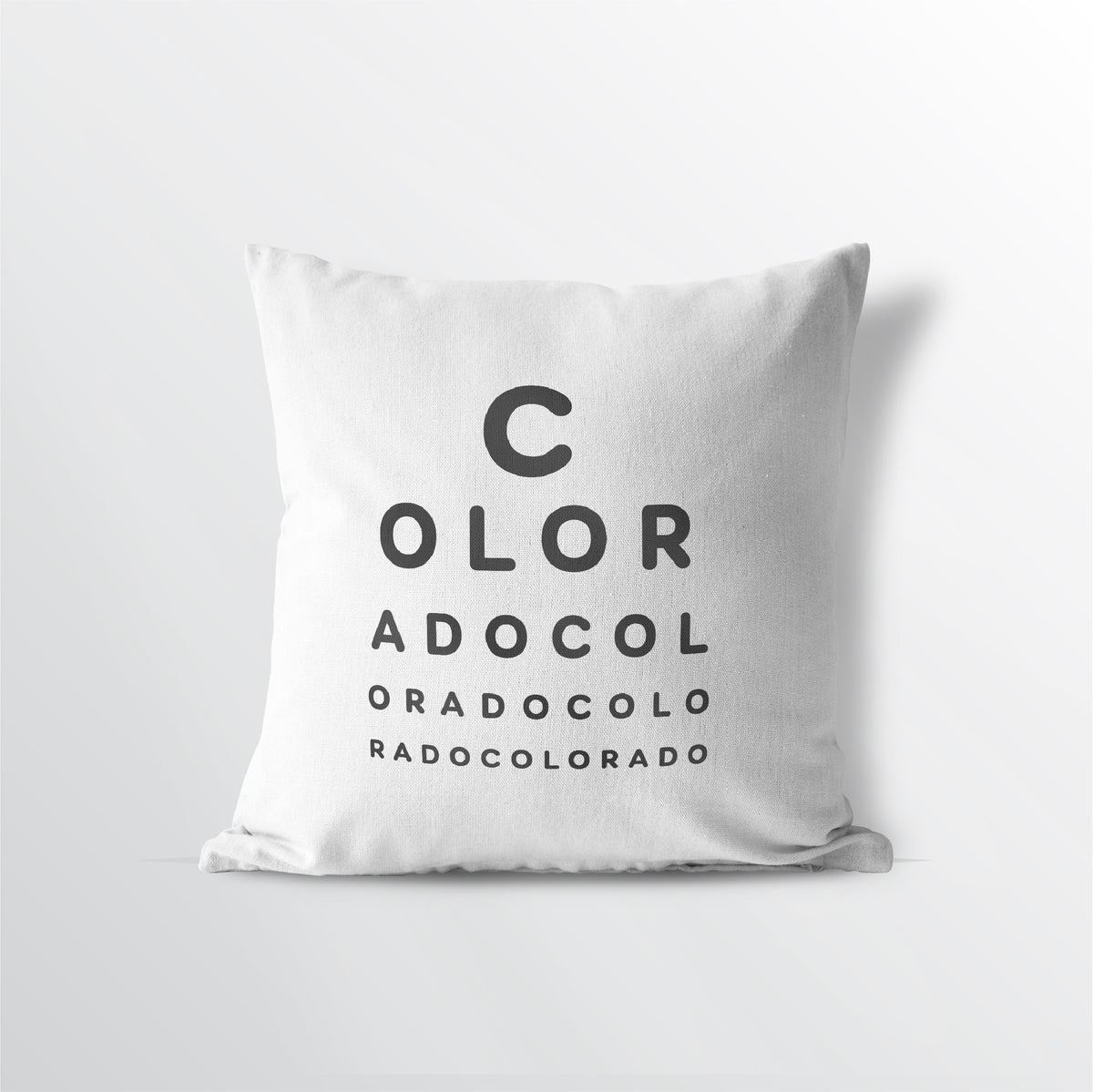 "Colorado ""Eye Exam"" Velveteen Throw Pillow - Point Two Design"