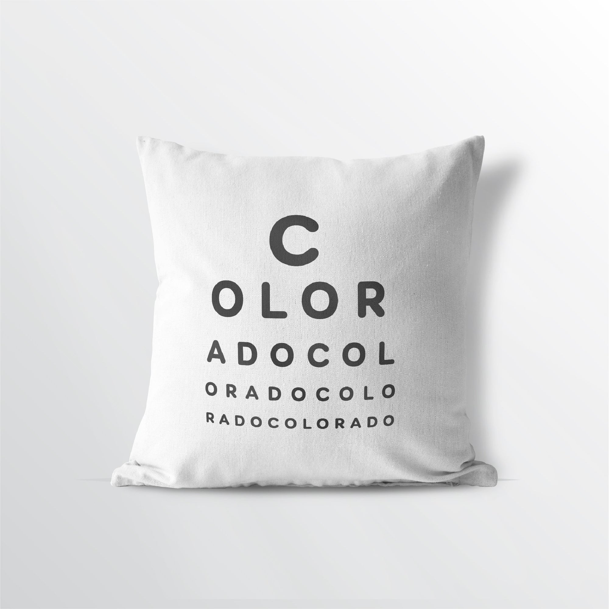 "Colorado ""Eye Exam"" Throw Pillow - Point Two Design"