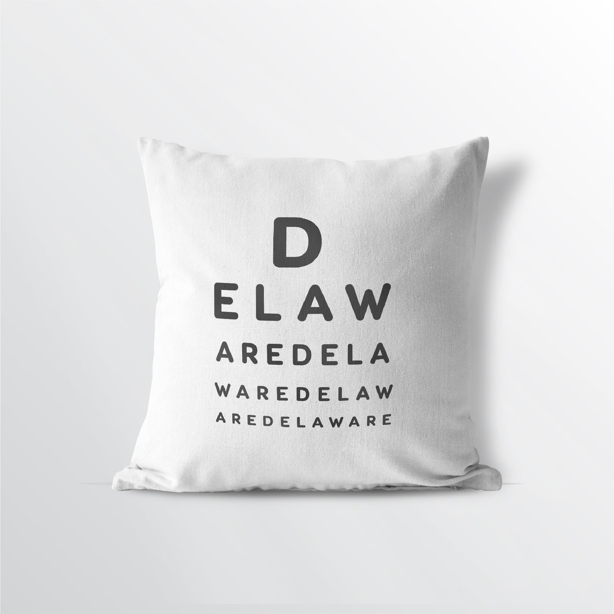 "Delaware ""Eye Exam"" Throw Pillow - Point Two Design"