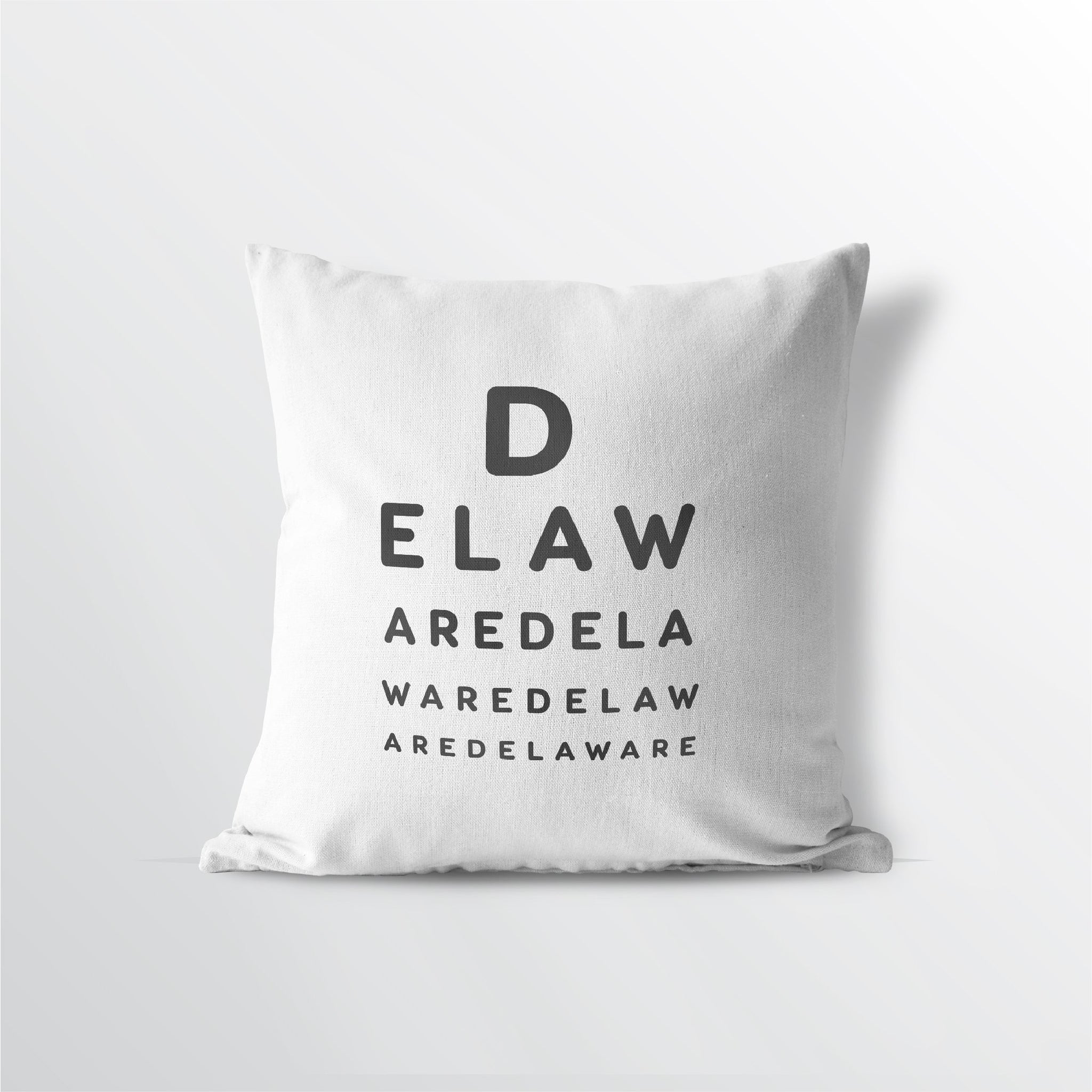 "Delaware ""Eye Exam"" Velveteen Throw Pillow - Point Two Design"