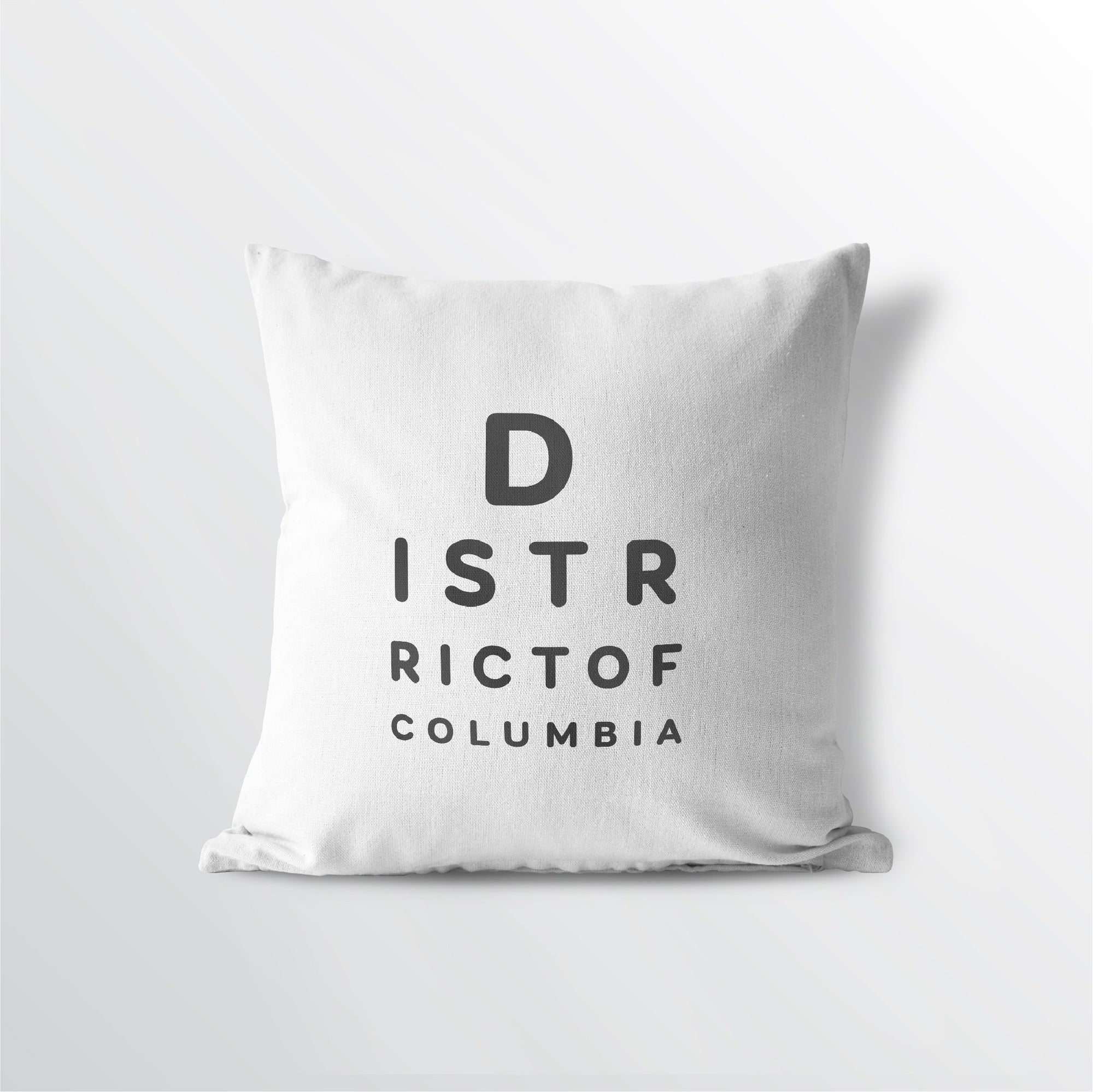 "District of Columbia ""Eye Exam"" Throw Pillow - Point Two Design"