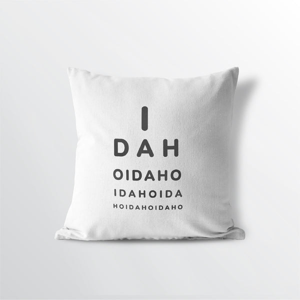 "Idaho ""Eye Exam"" Throw Pillow"