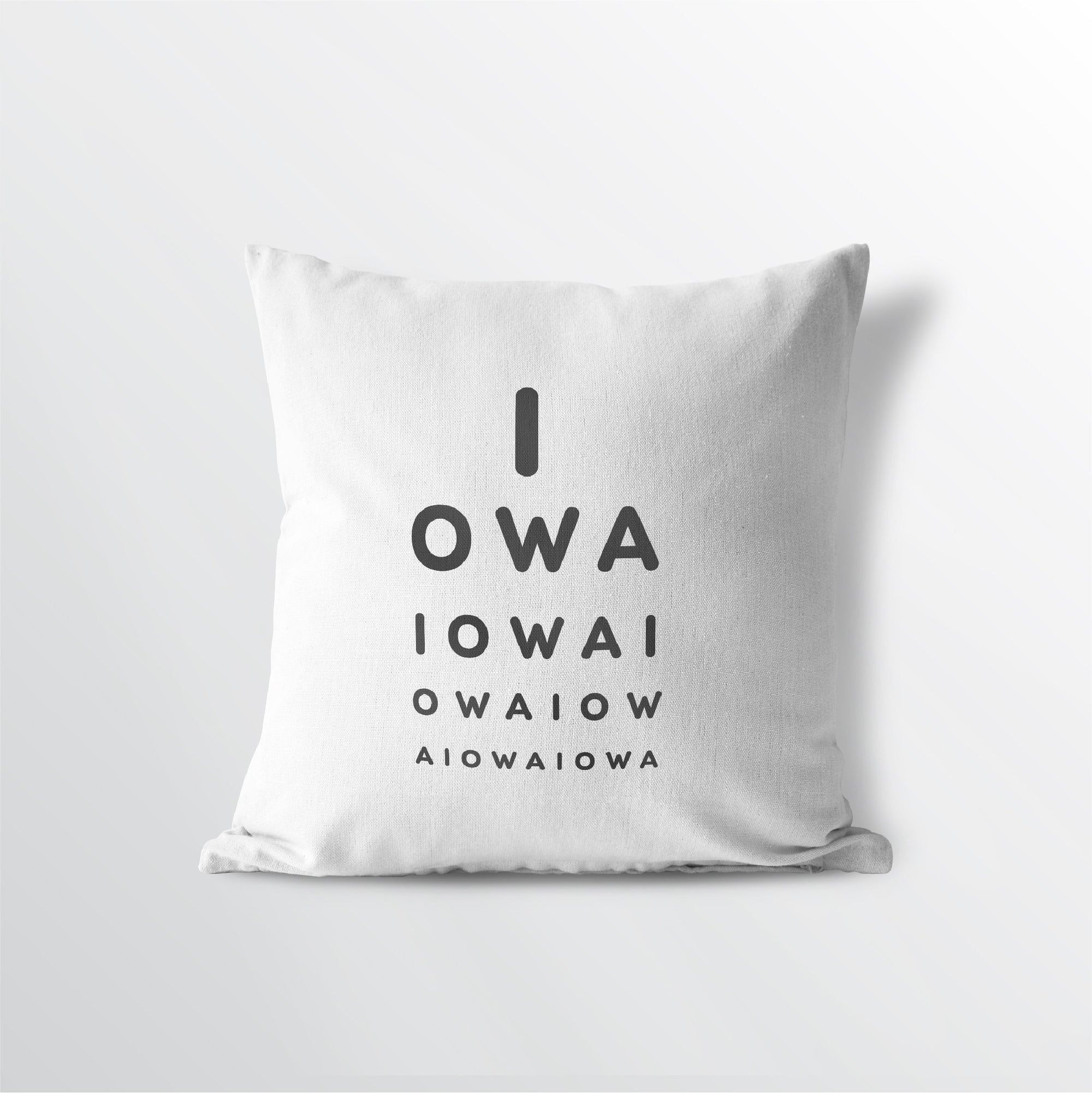 "Iowa ""Eye Exam"" Throw Pillow"