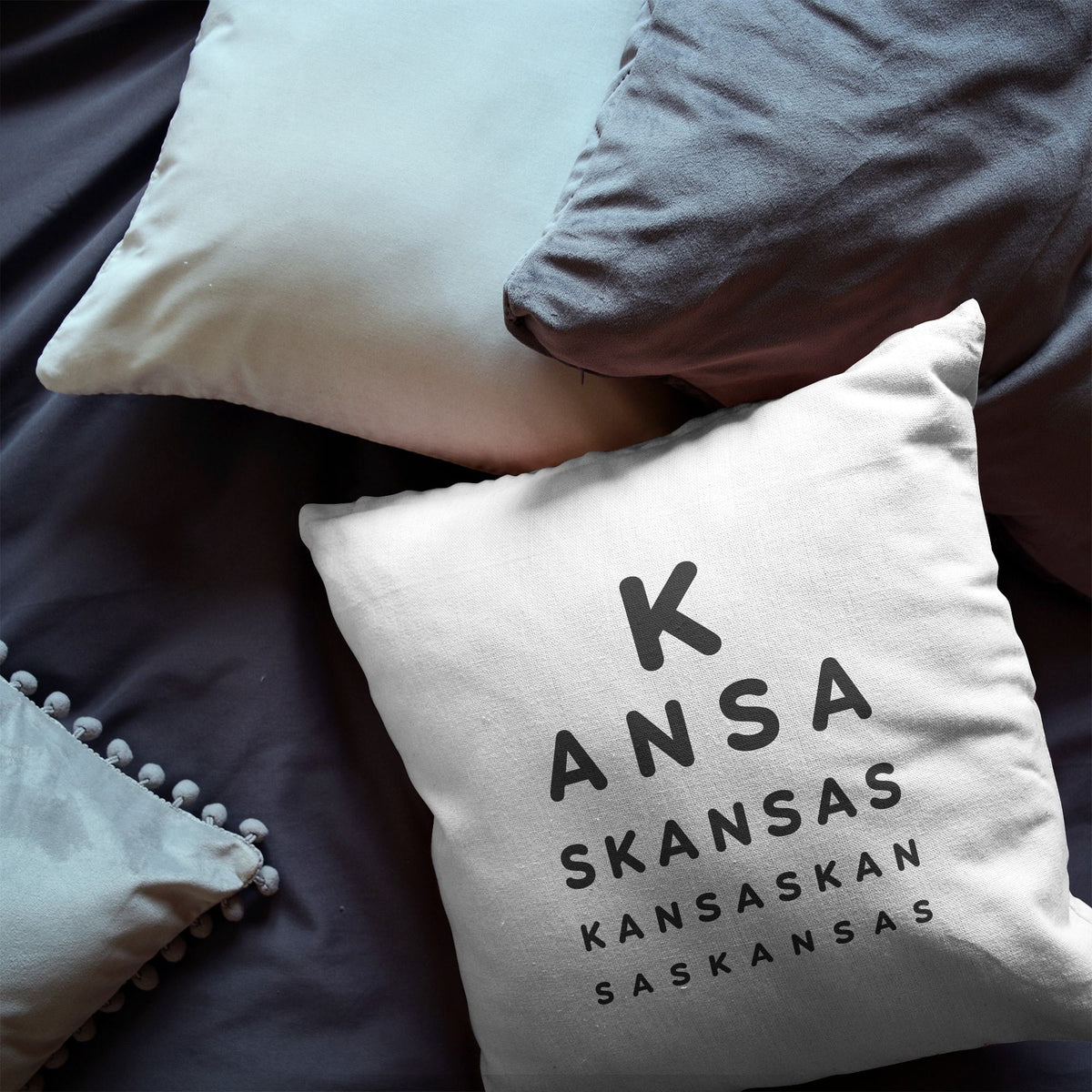 "Kansas ""Eye Exam"" Throw Pillow"