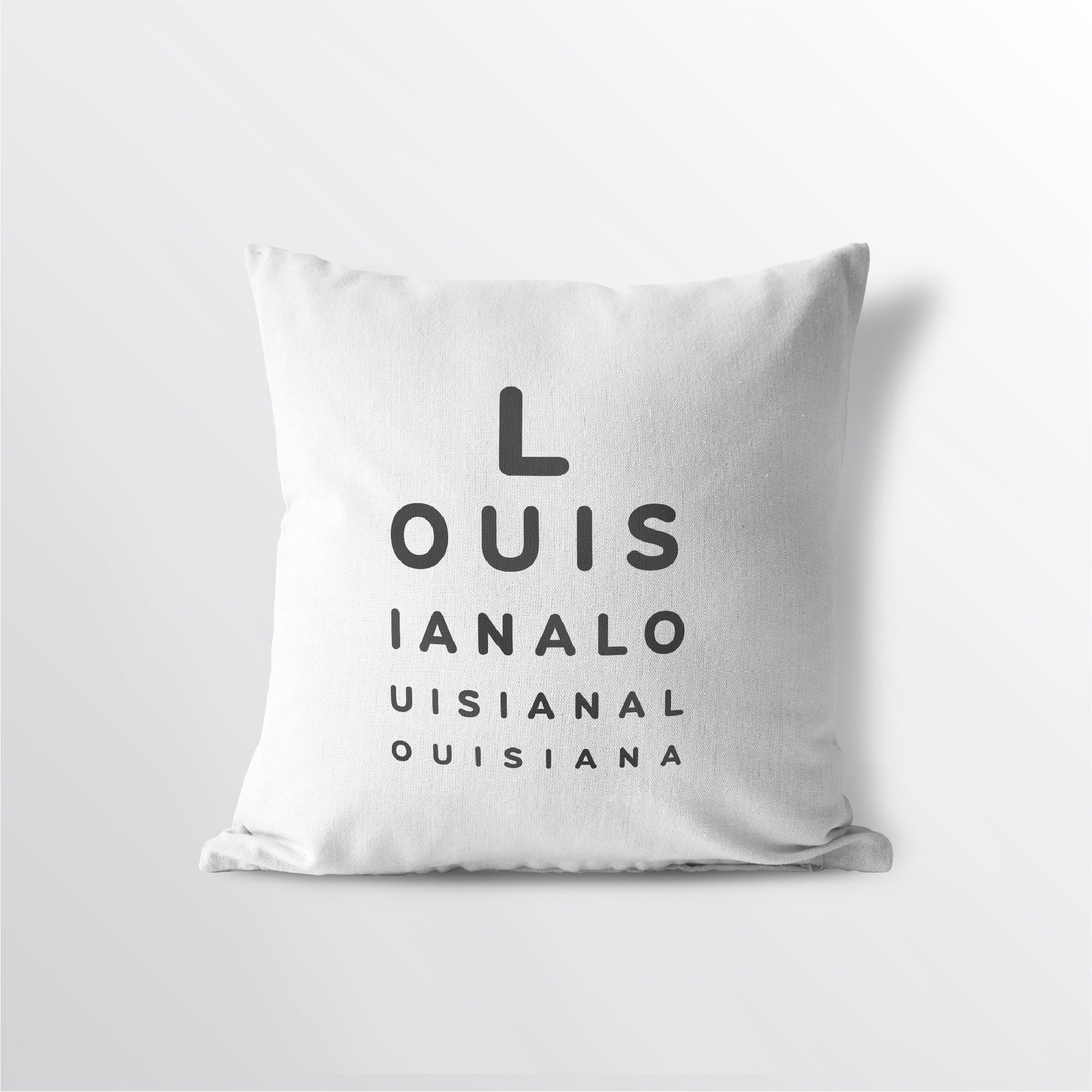 "Louisiana ""Eye Exam"" Throw Pillow"