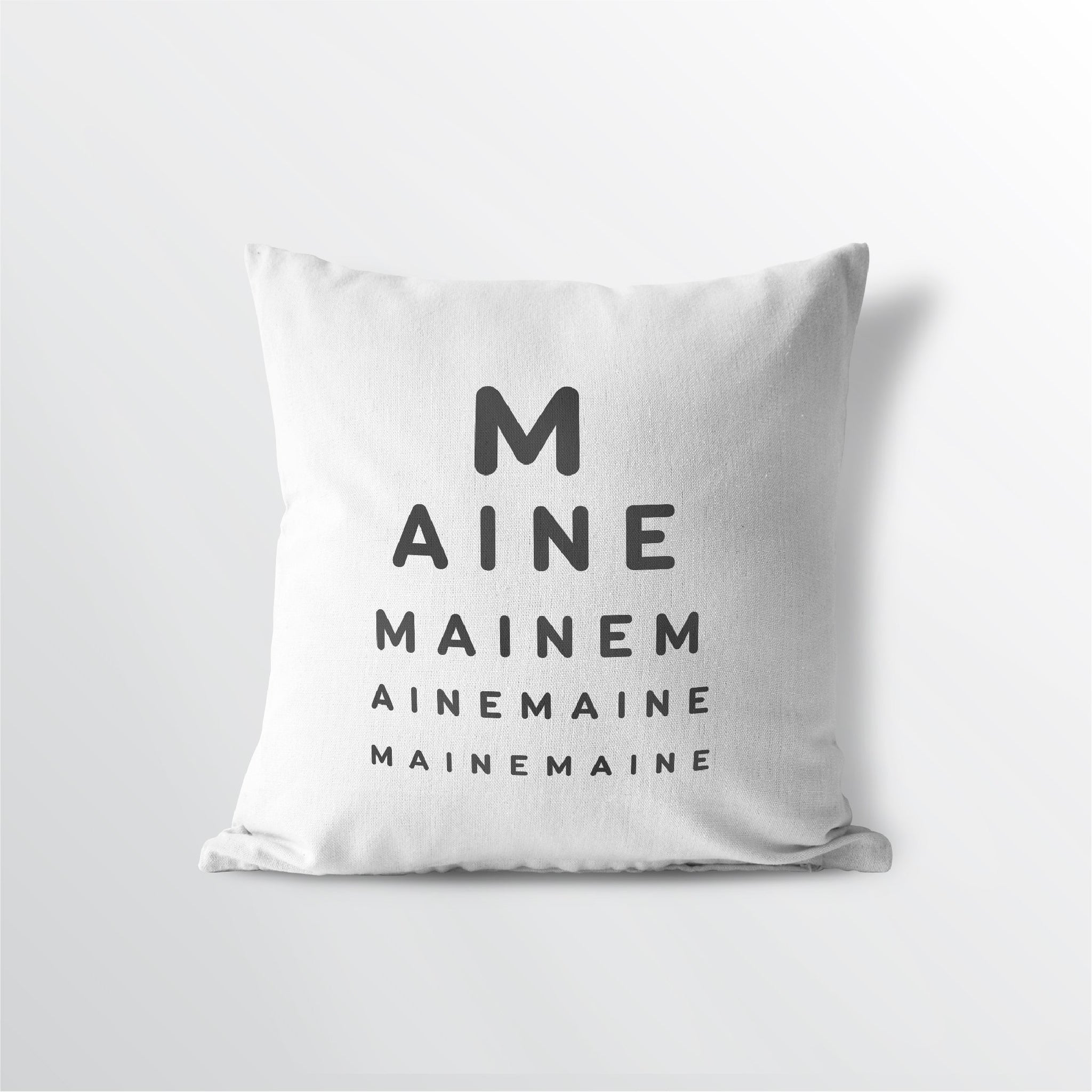 "Maine ""Eye Exam"" Throw Pillow"