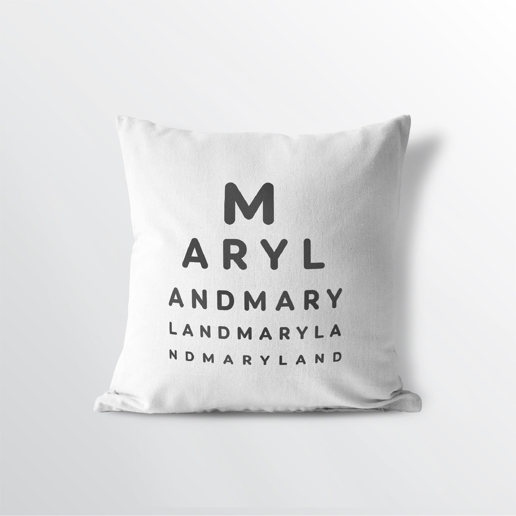 "Maryland ""Eye Exam"" Throw Pillow"
