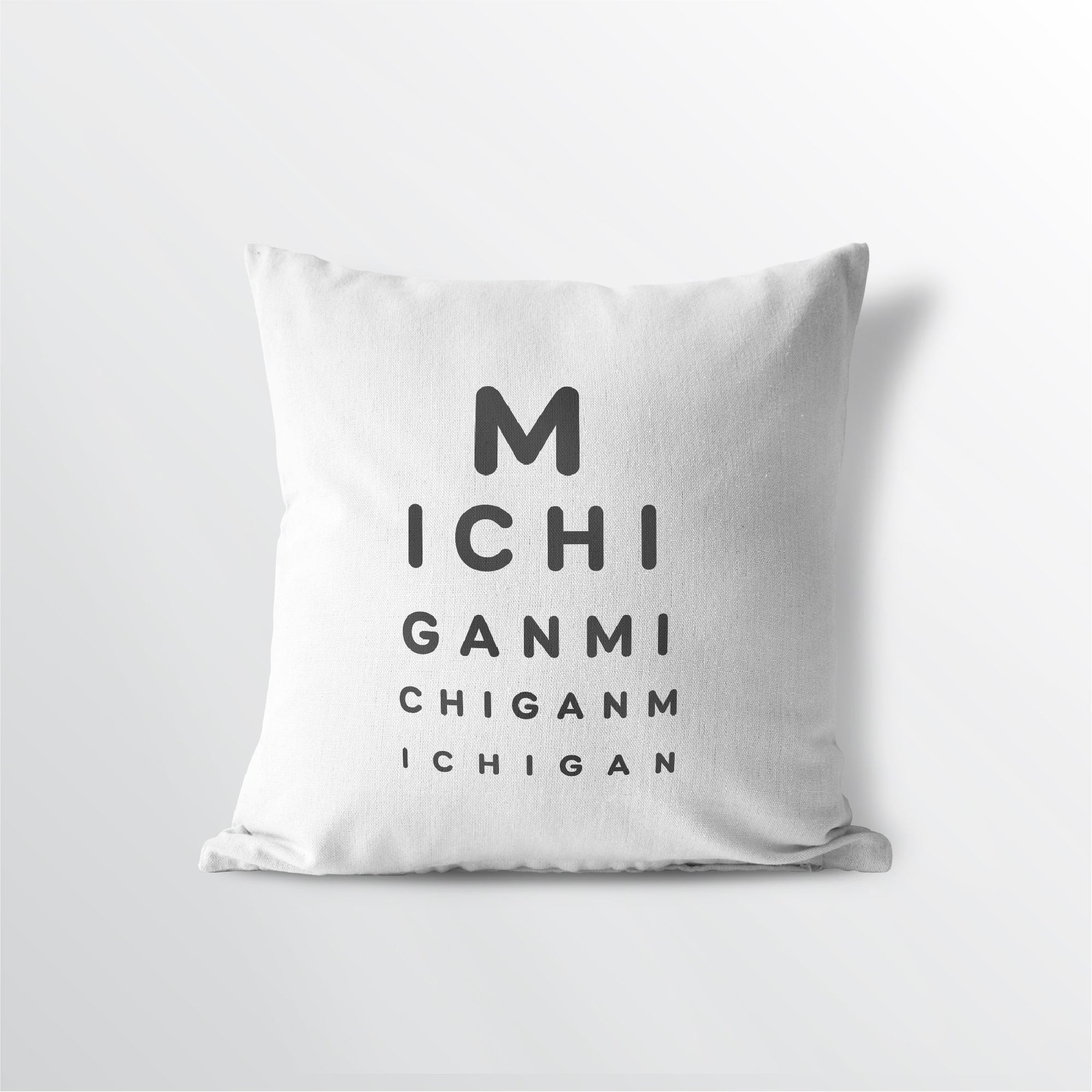 "Michigan ""Eye Exam"" Throw Pillow"
