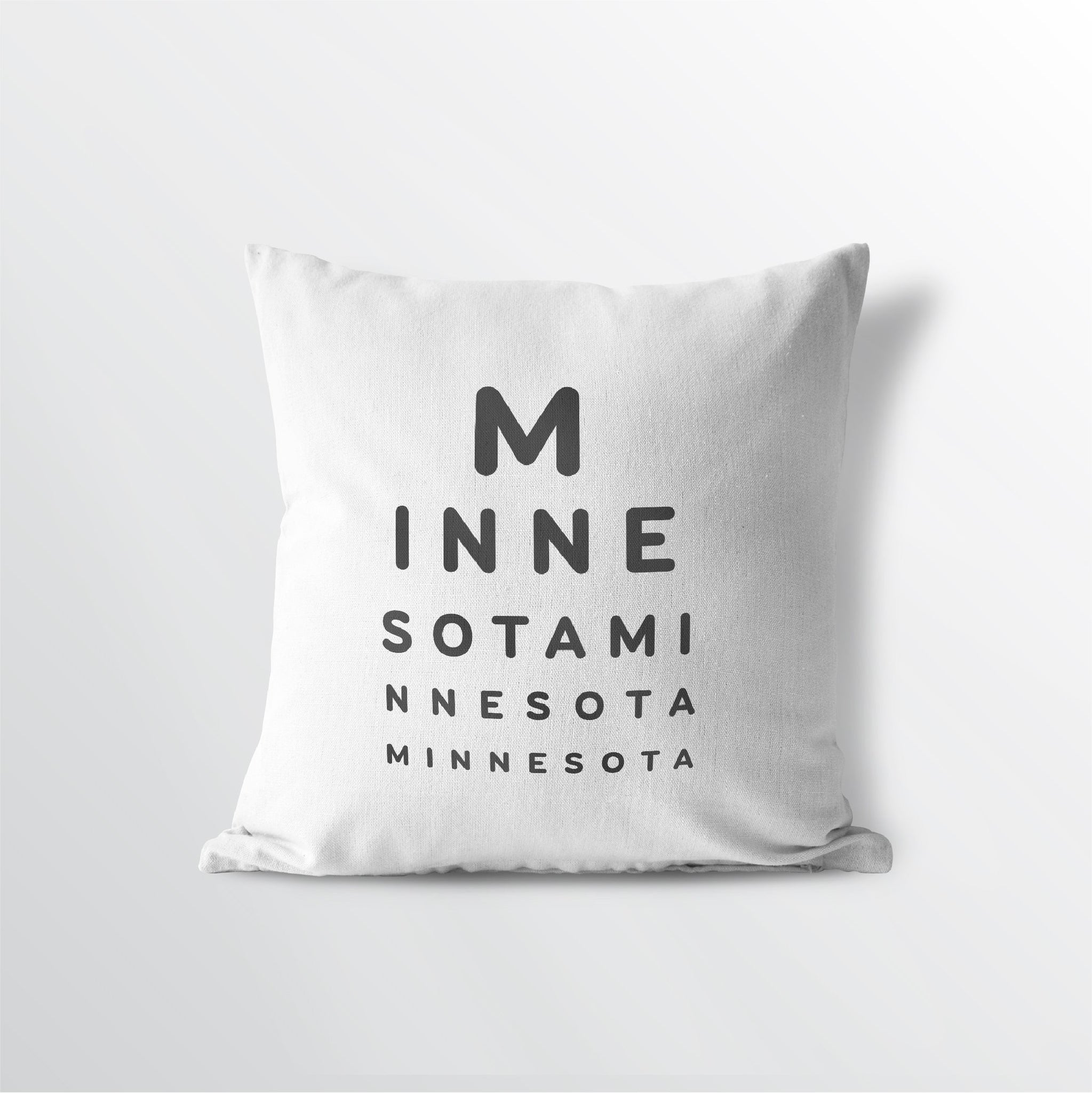 "Minnesota ""Eye Exam"" Throw Pillow"