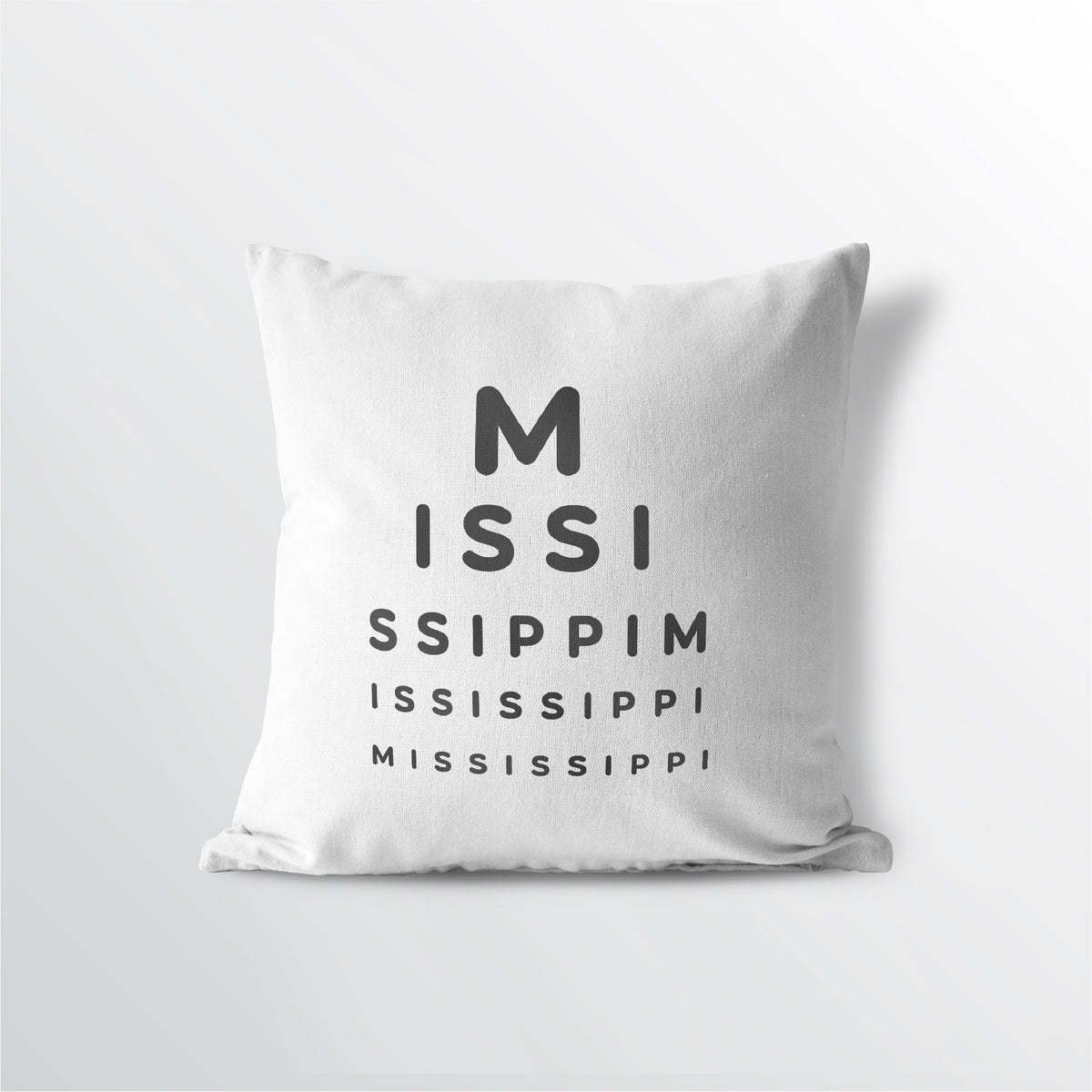 "Mississippi ""Eye Exam"" Throw Pillow"