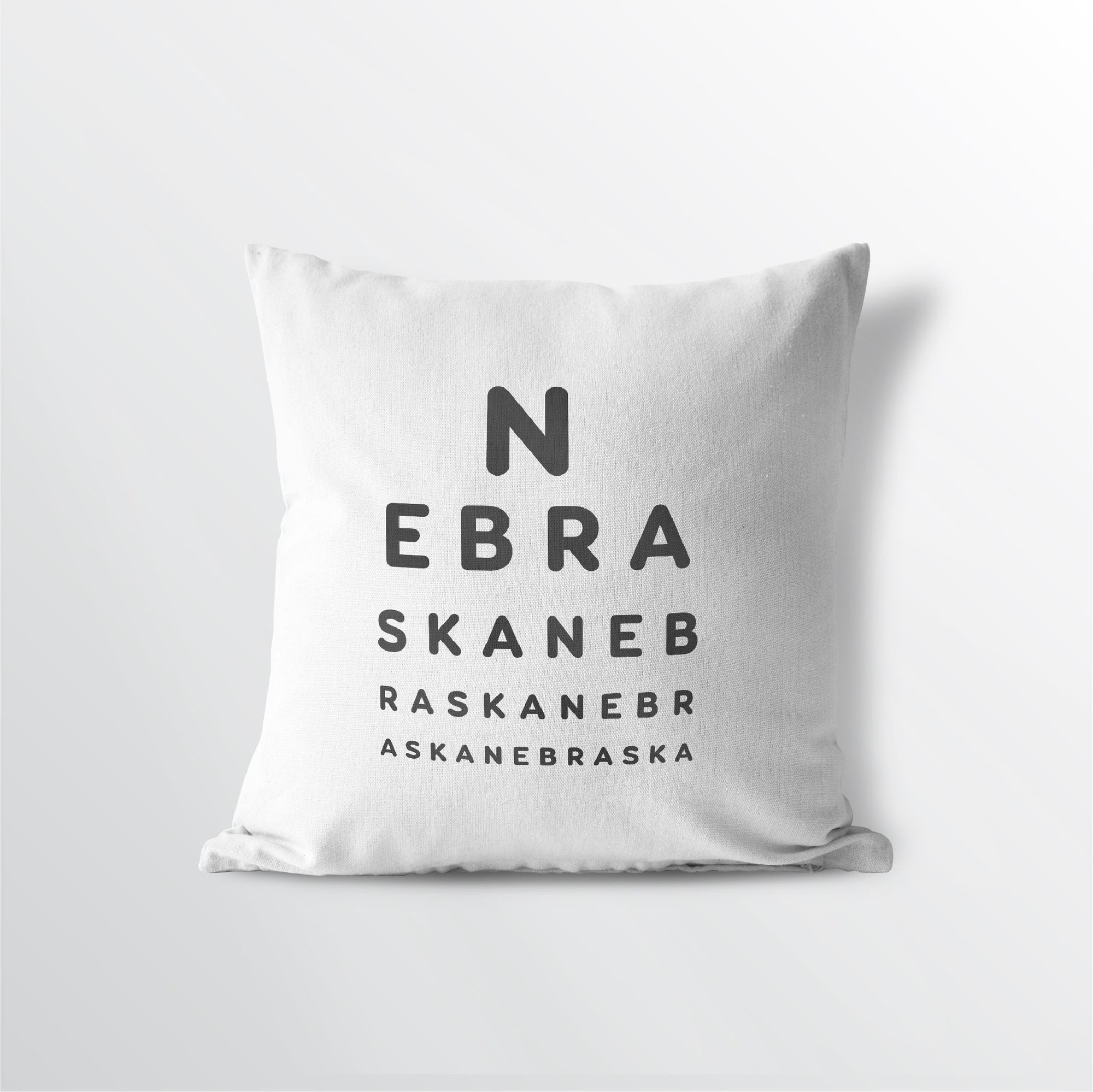 "Nevada ""Eye Exam"" Throw Pillow"