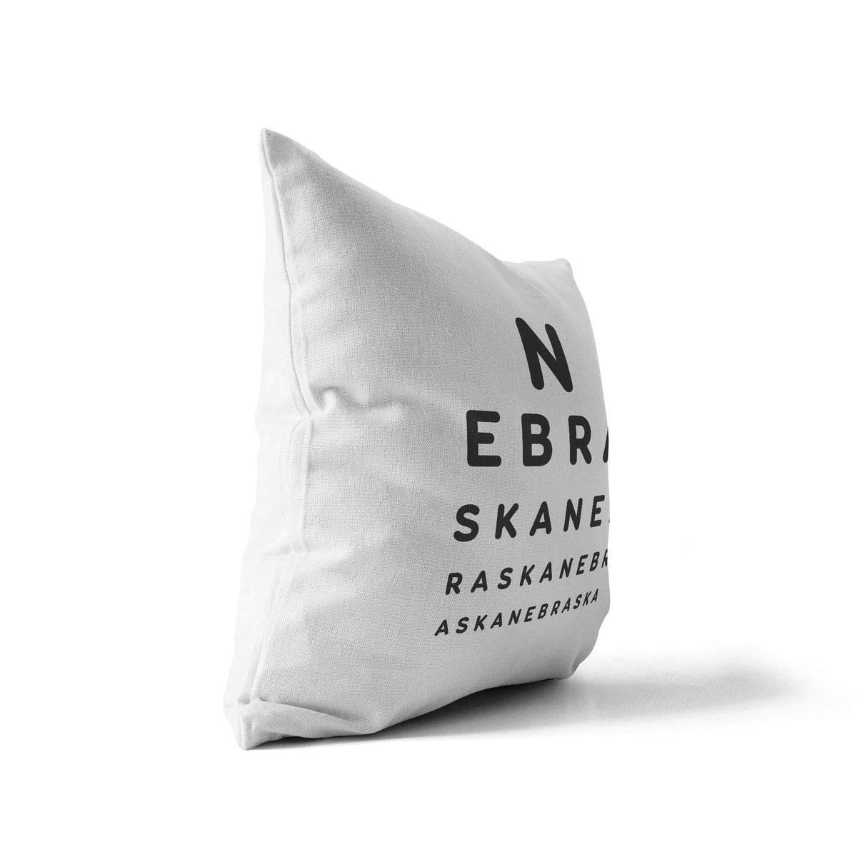 "Nebraska ""Eye Exam"" Throw Pillow"
