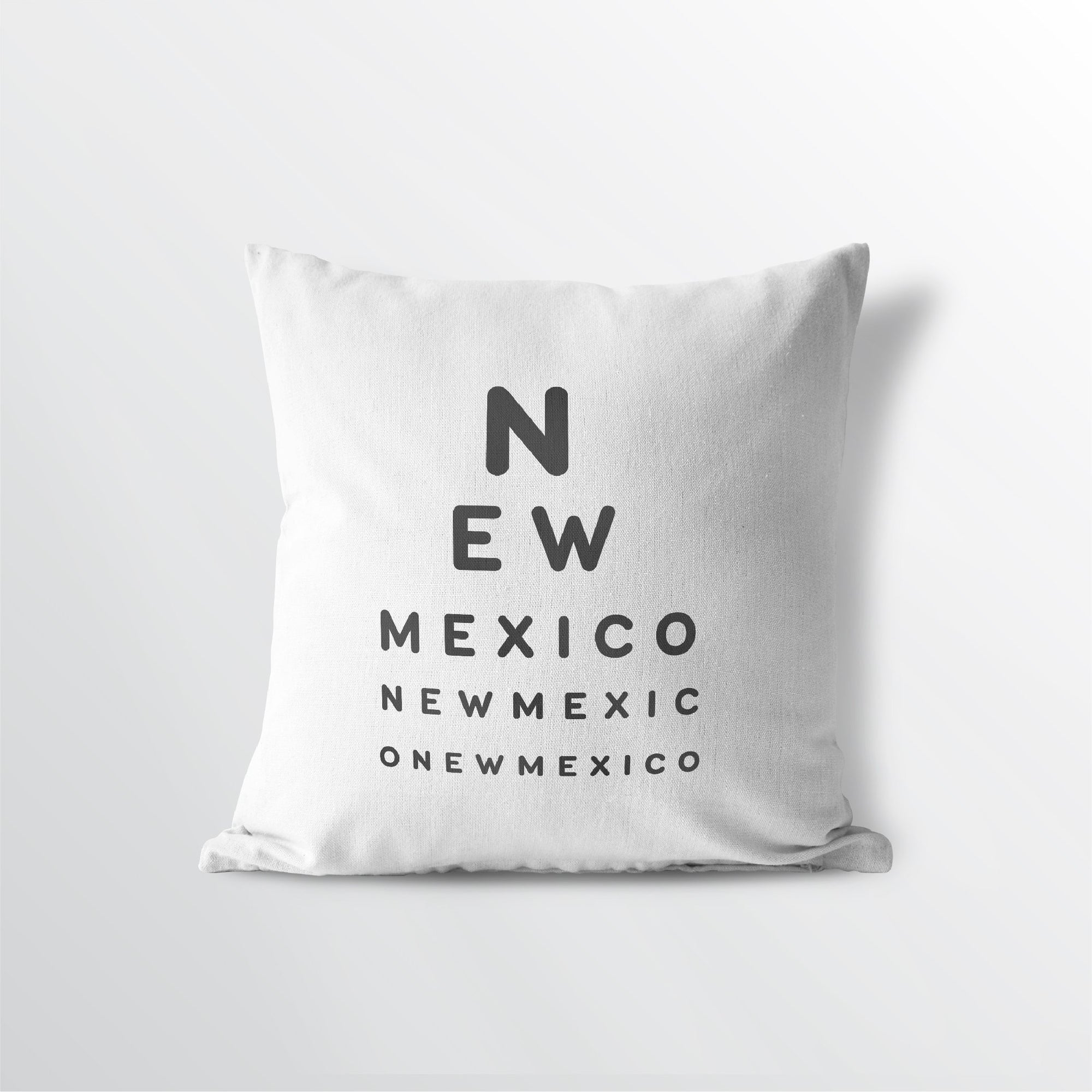 "New Mexico ""Eye Exam"" Throw Pillow"