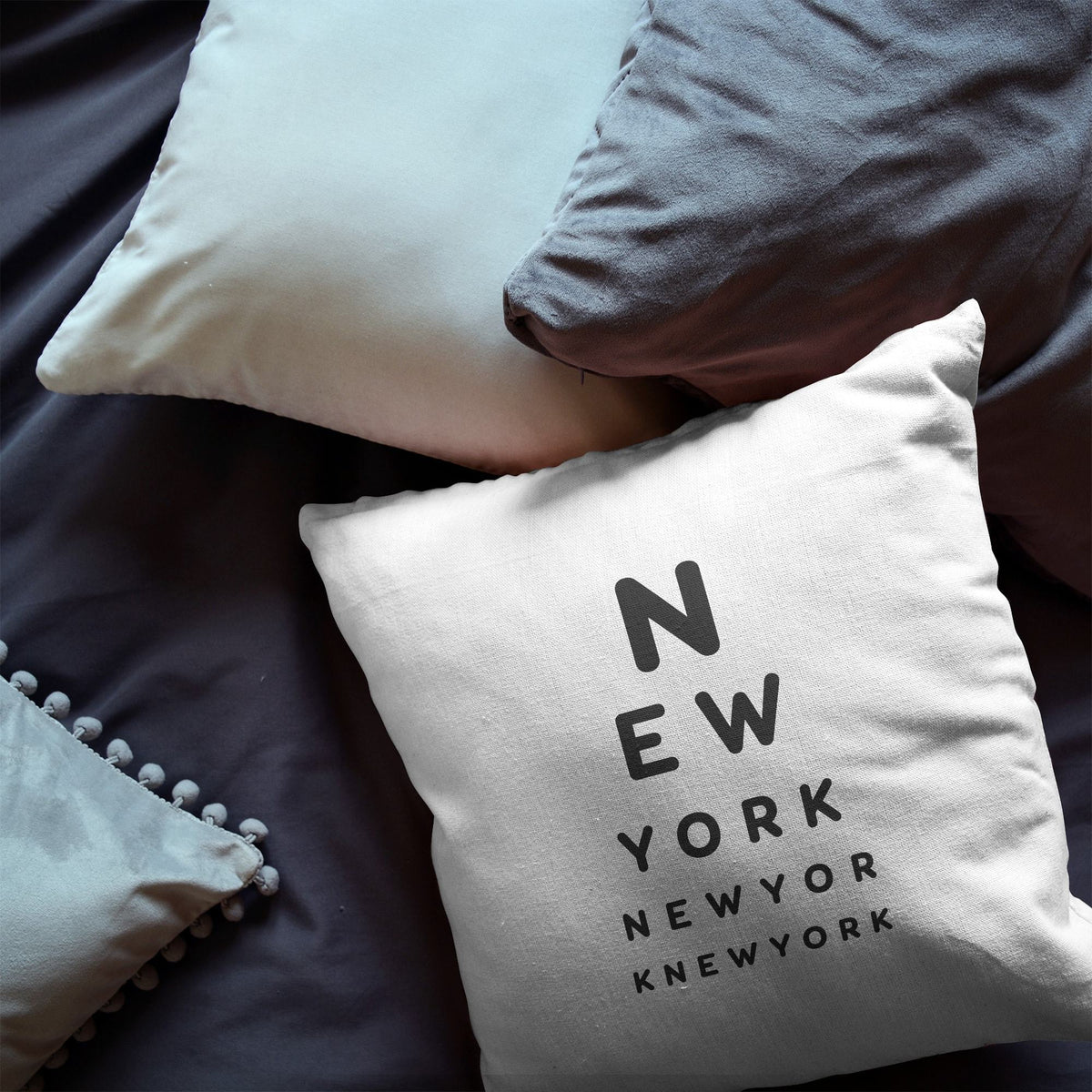 "New York ""Eye Exam"" Throw Pillow"
