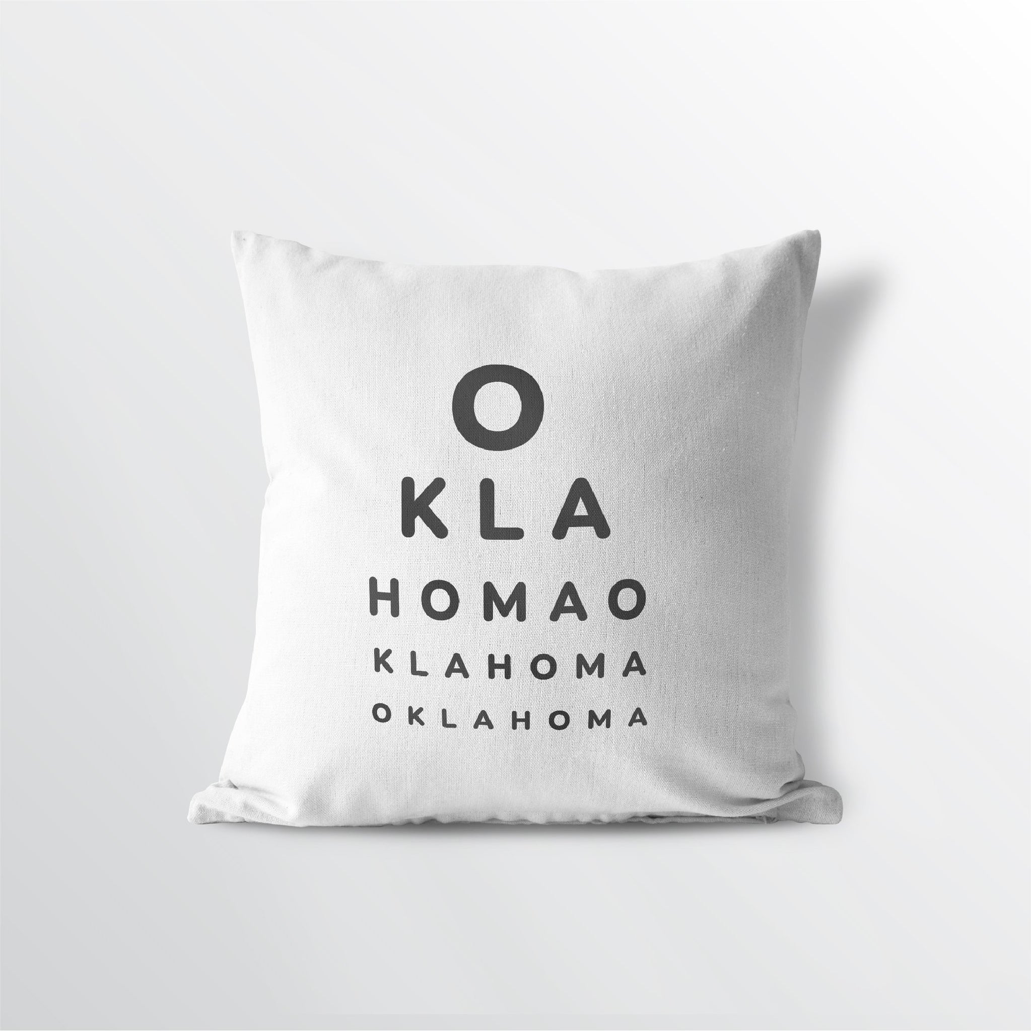 "Oklahmona ""Eye Exam"" Throw Pillow"